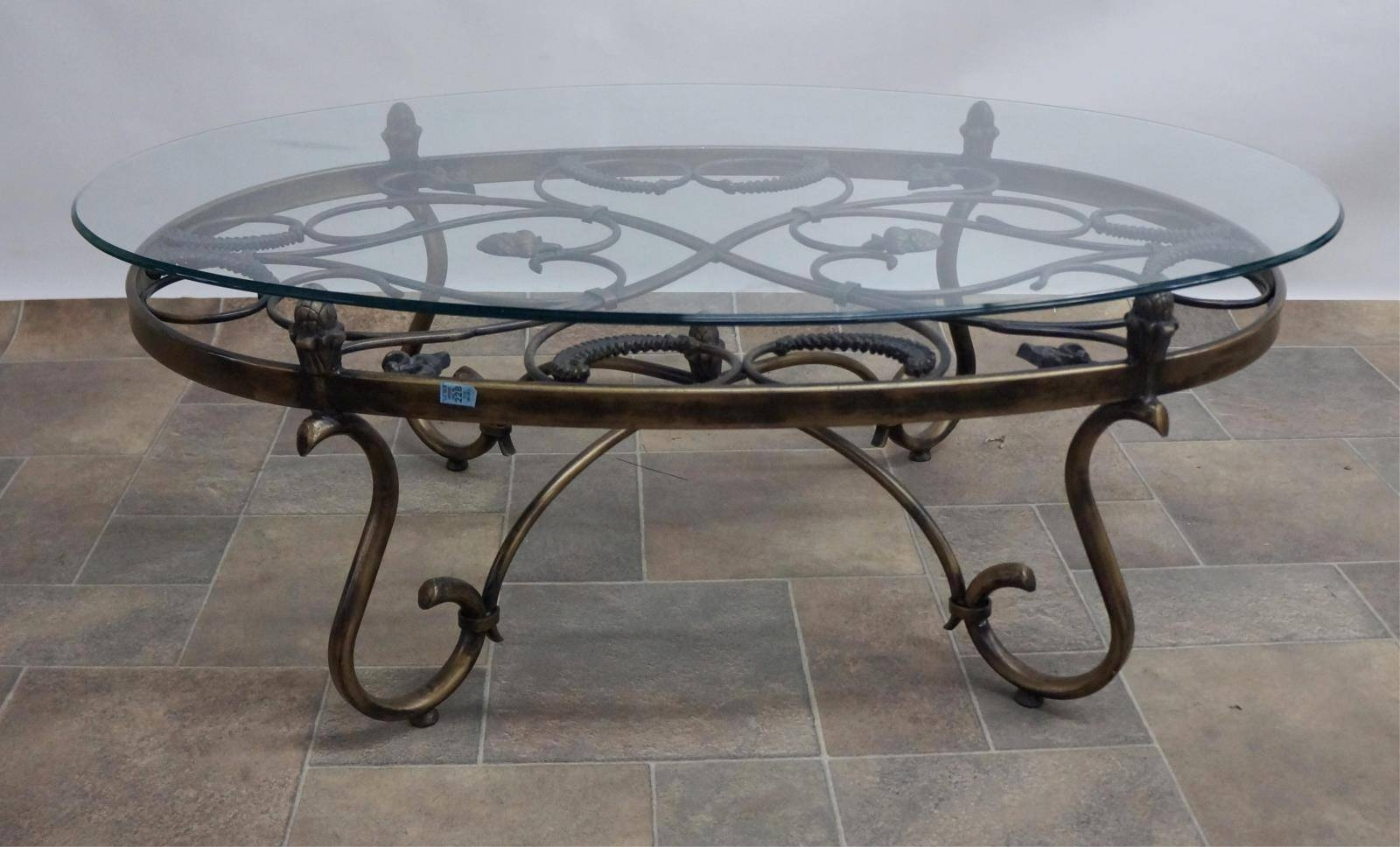 Glass Top Coffee Tables With Wrought Iron Base | Coffee Tables within Wrought Iron Coffee Tables (Image 6 of 30)