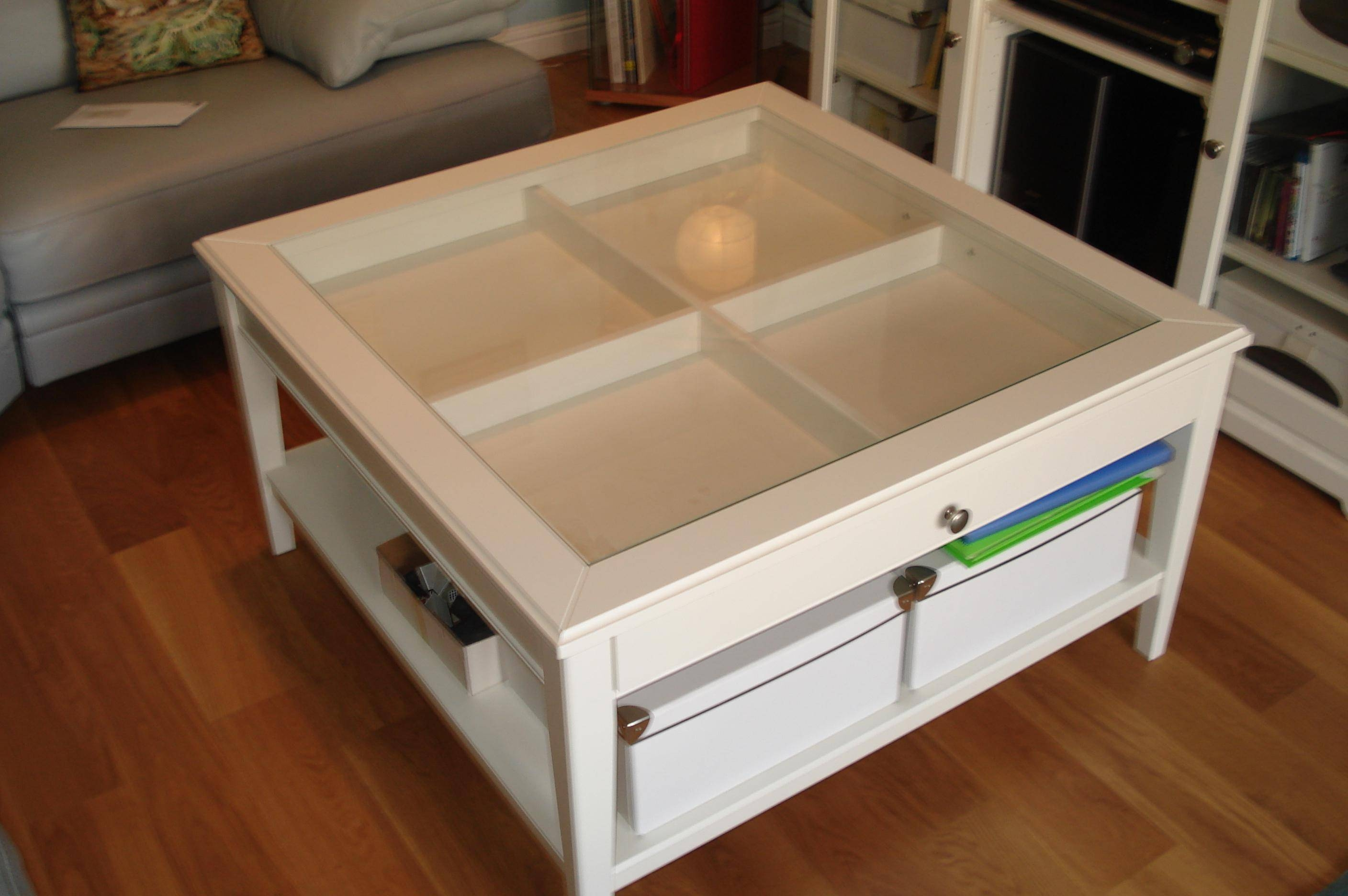 Glass Top Display Coffee Table Ikea pertaining to Coffee Tables With Glass Top Display Drawer (Image 25 of 30)