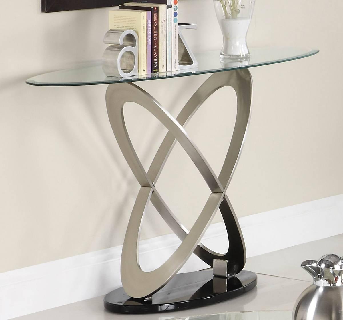 Glass Top Sofa Table Metal : Glass Sofa Table For The Flawless Inside Metal Glass Sofa Tables (Photo 5 of 30)