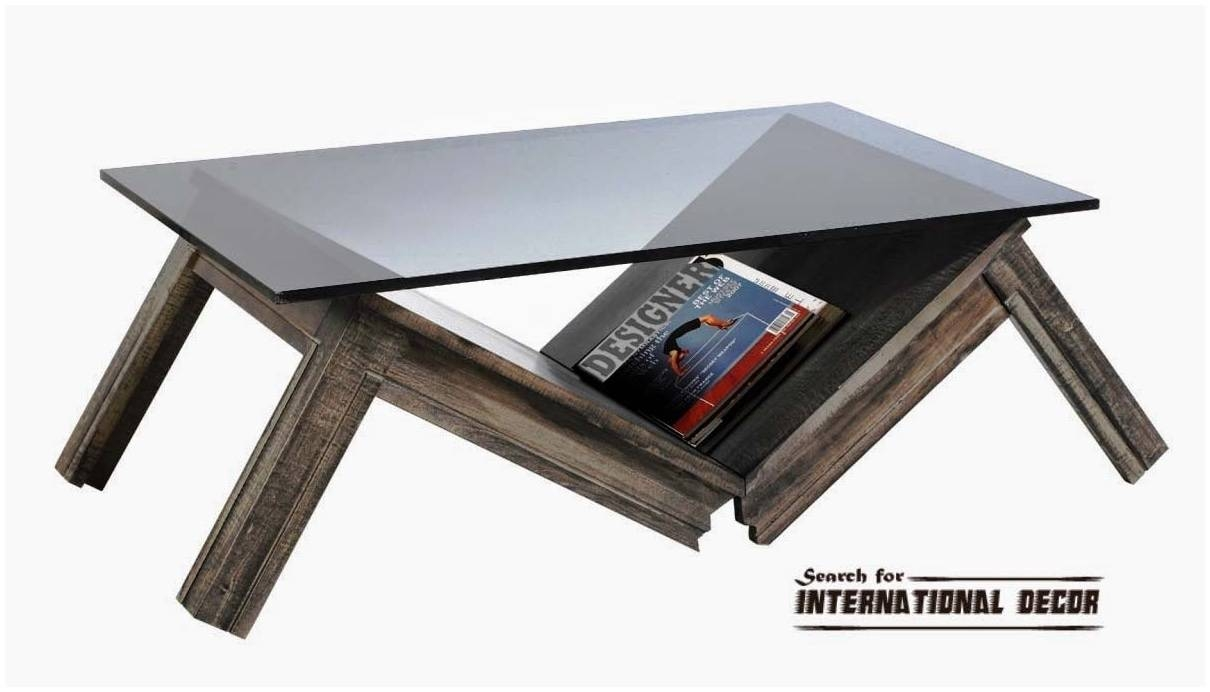 Glass Unusual Coffee Tables – Cocinacentral.co in Unusual Glass Coffee Tables (Image 20 of 30)