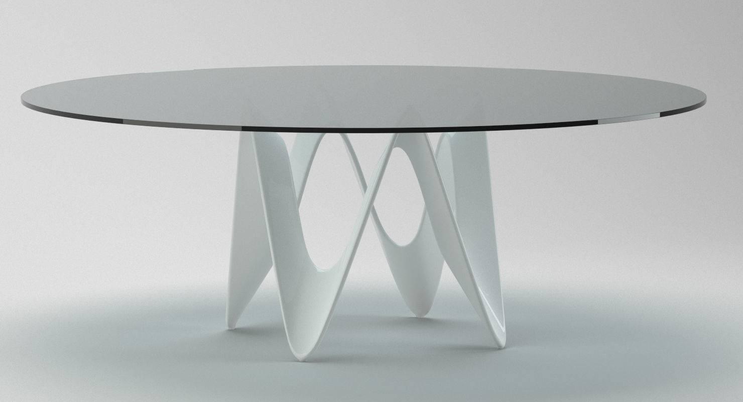 Glassy Circle Coffee Table 1 3D Model Max Obj Fbx Stl Mtl regarding Circle Coffee Tables (Image 18 of 30)