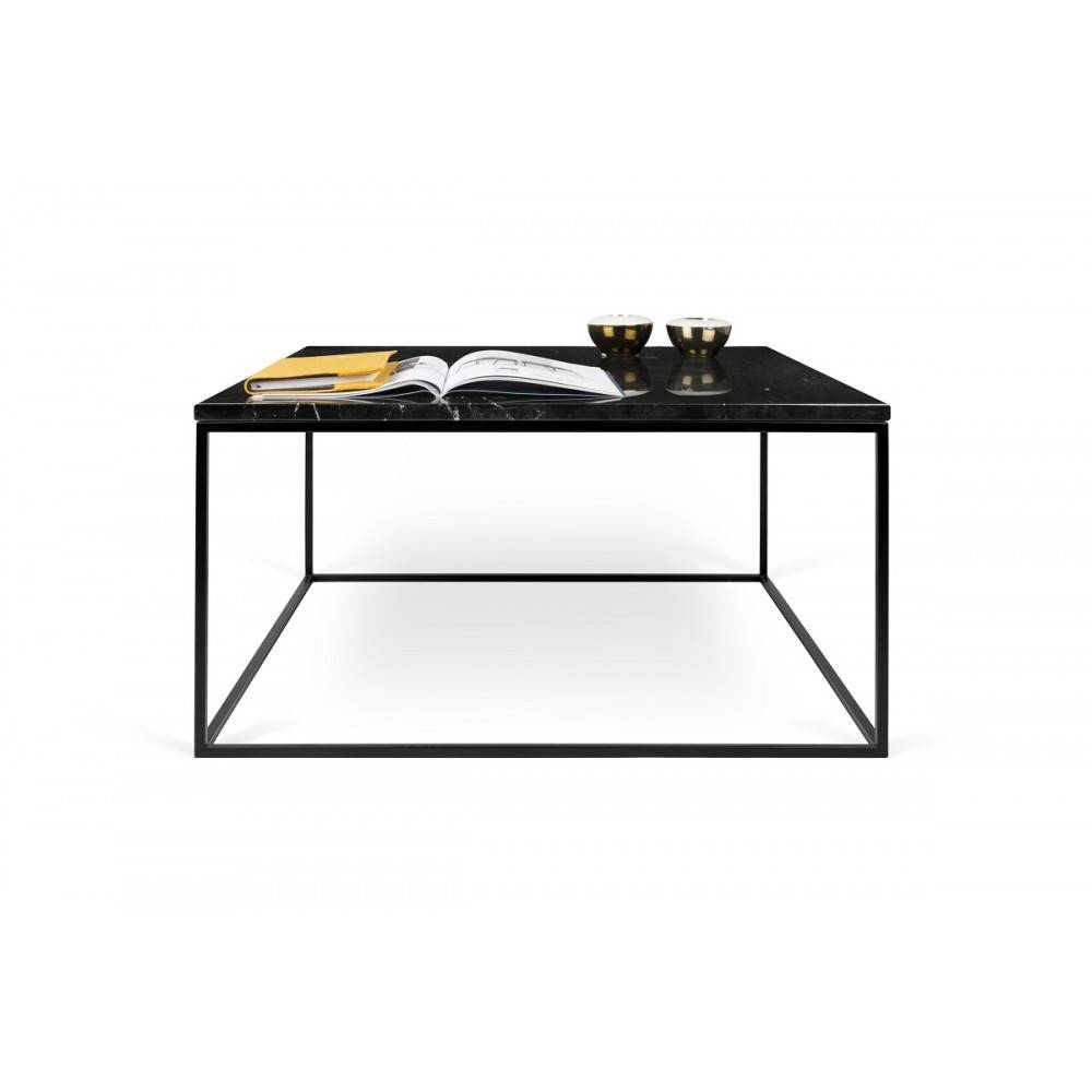Gleam Black Marble Coffee Table | Black Lacquered Steel, Tema Home within Marble Coffee Tables (Image 15 of 30)