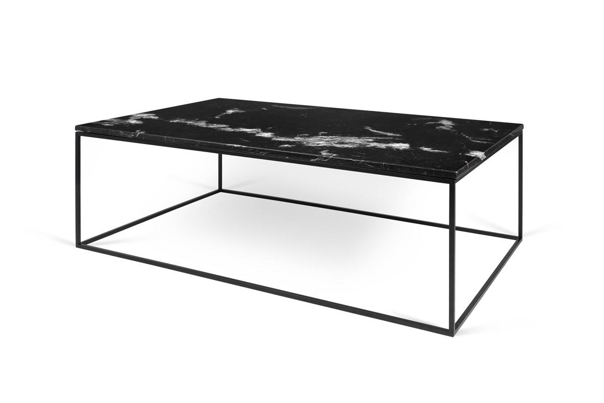 Gleam Marble Coffee Table | Black | Black Lacquered Steel, Tema within Marble Coffee Tables (Image 16 of 30)