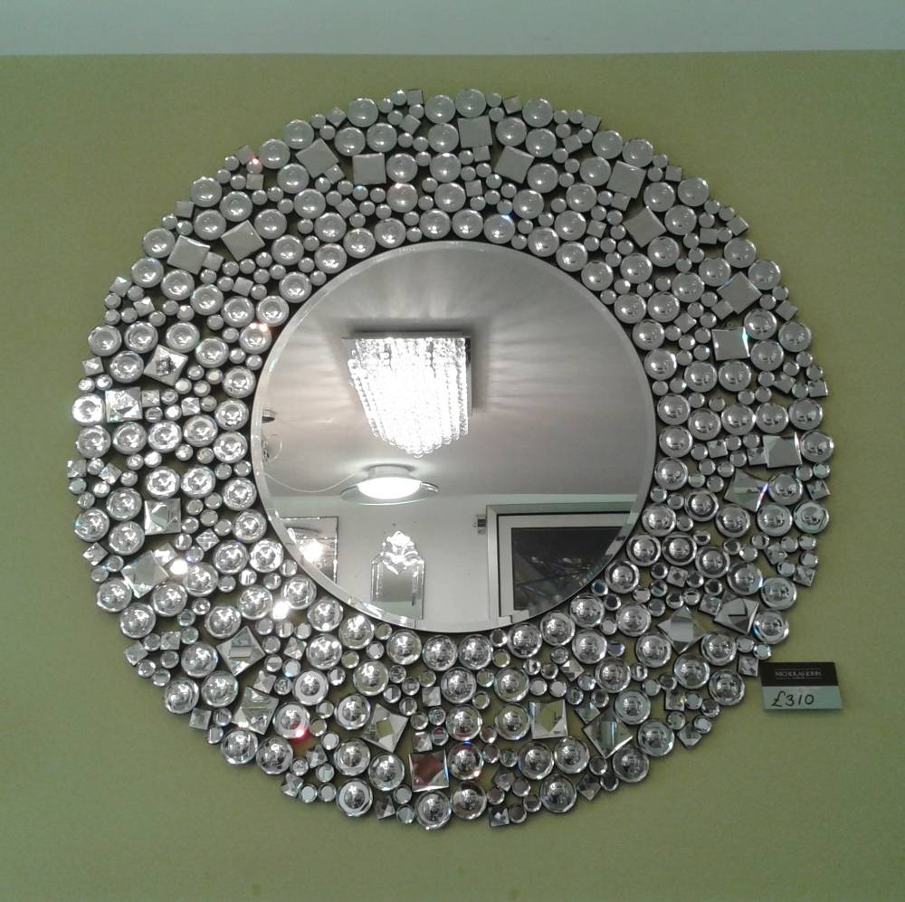 Glitz Round Venetian Wall Mirror - Nicholas John Interiors pertaining to Venetian Wall Mirrors (Image 9 of 25)