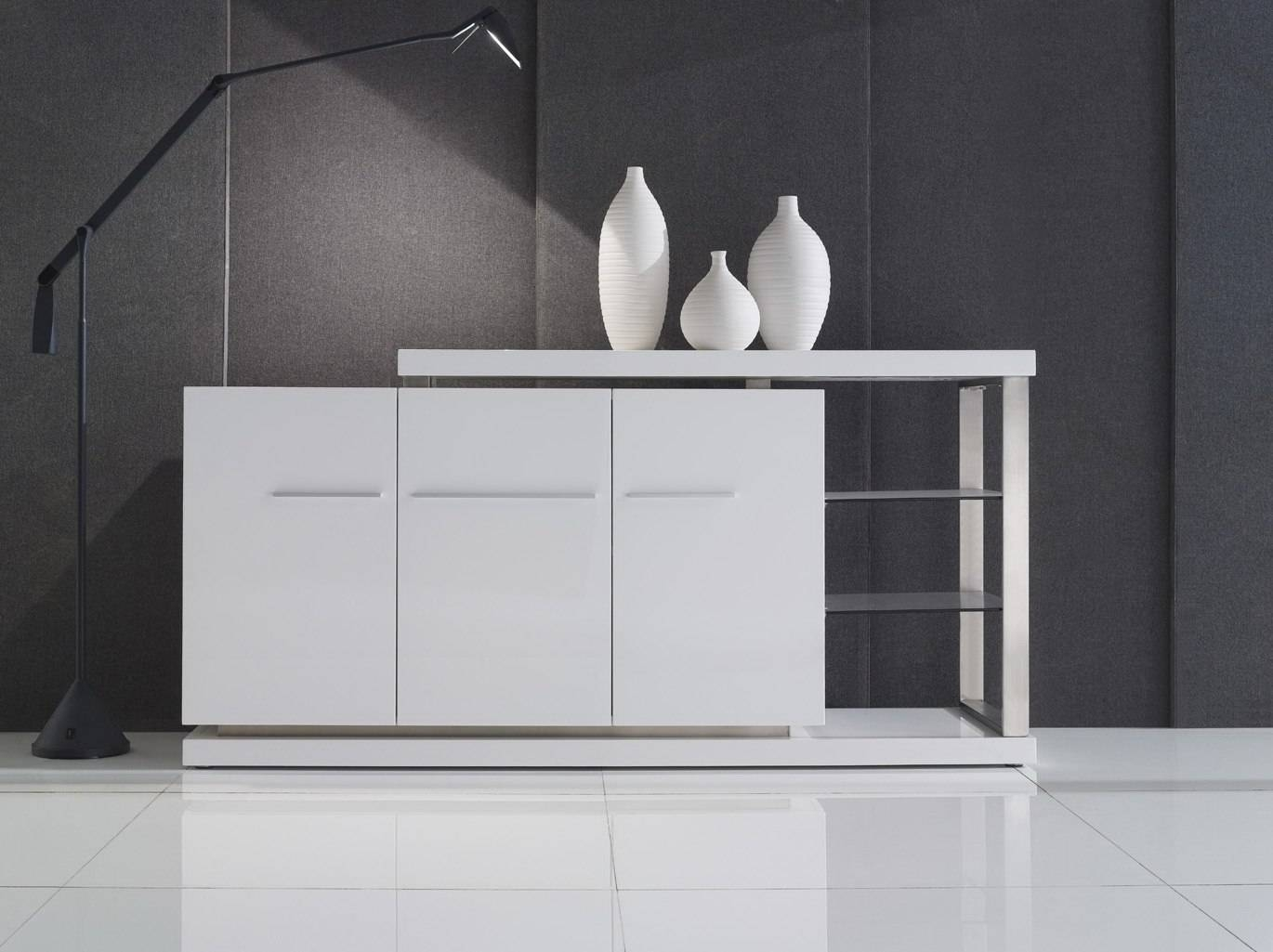 Gloss White Buffet Cabinets | in Black Gloss Buffet Sideboards (Image 13 of 30)