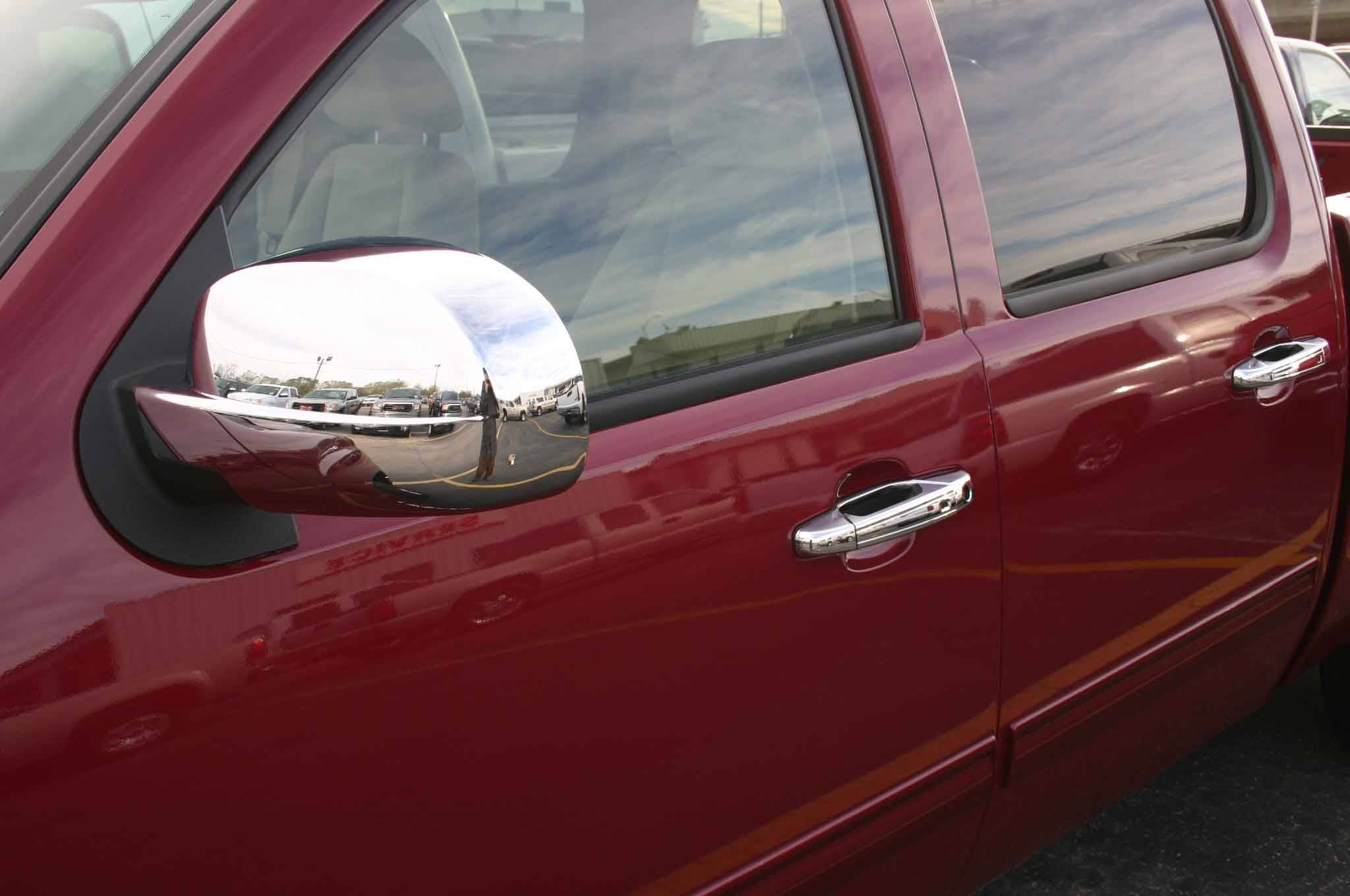 Gmc Sierra Chrome Door Handle / Mirror Cover Trim Package inside Chrome Mirrors (Image 14 of 25)