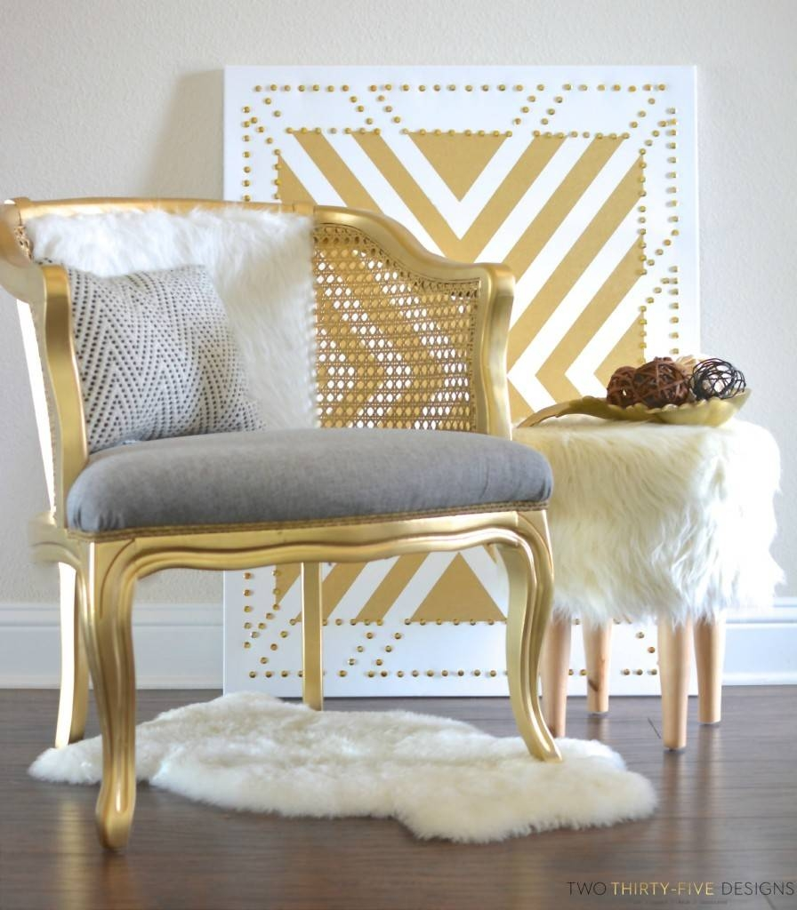 Gold Cane Chair - Two Thirty~Five Designs throughout White Cane Sofas (Image 18 of 30)