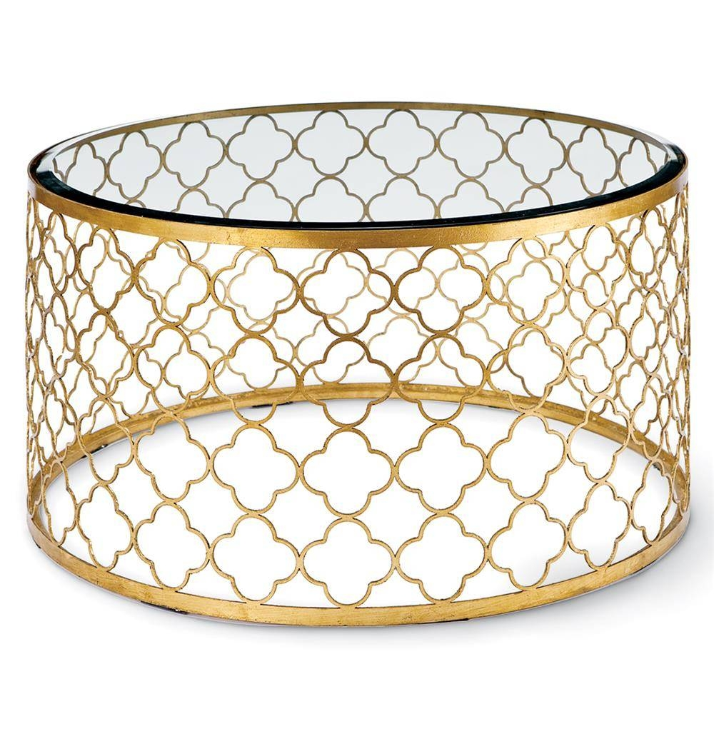 Gold Coffee Tables Wonderful Round Gold Coffee Table Round Gold For Glass Gold Coffee Tables (Photo 13 of 30)