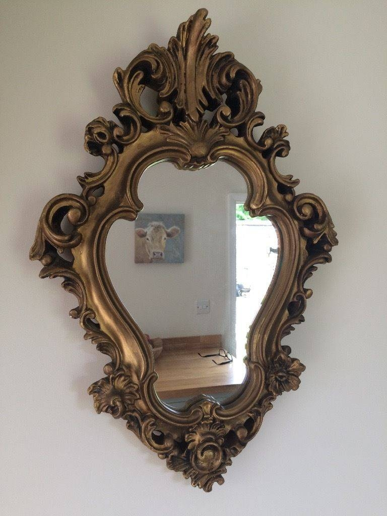 Gold Frame Rococo Mirror | In Woodbridge, Suffolk | Gumtree in Gold Rococo Mirrors (Image 16 of 25)