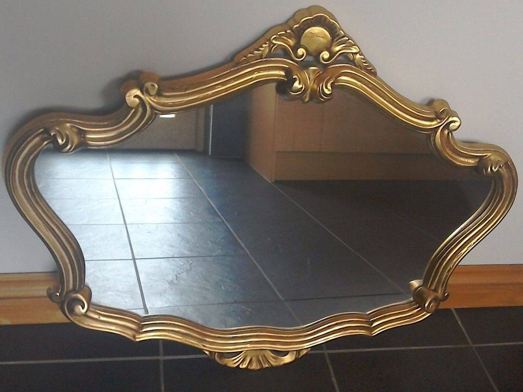 Gold Gilt Edged Mirror In Excellent Condition 90Cm70Cm | In within Gilt Edged Mirrors (Image 10 of 25)