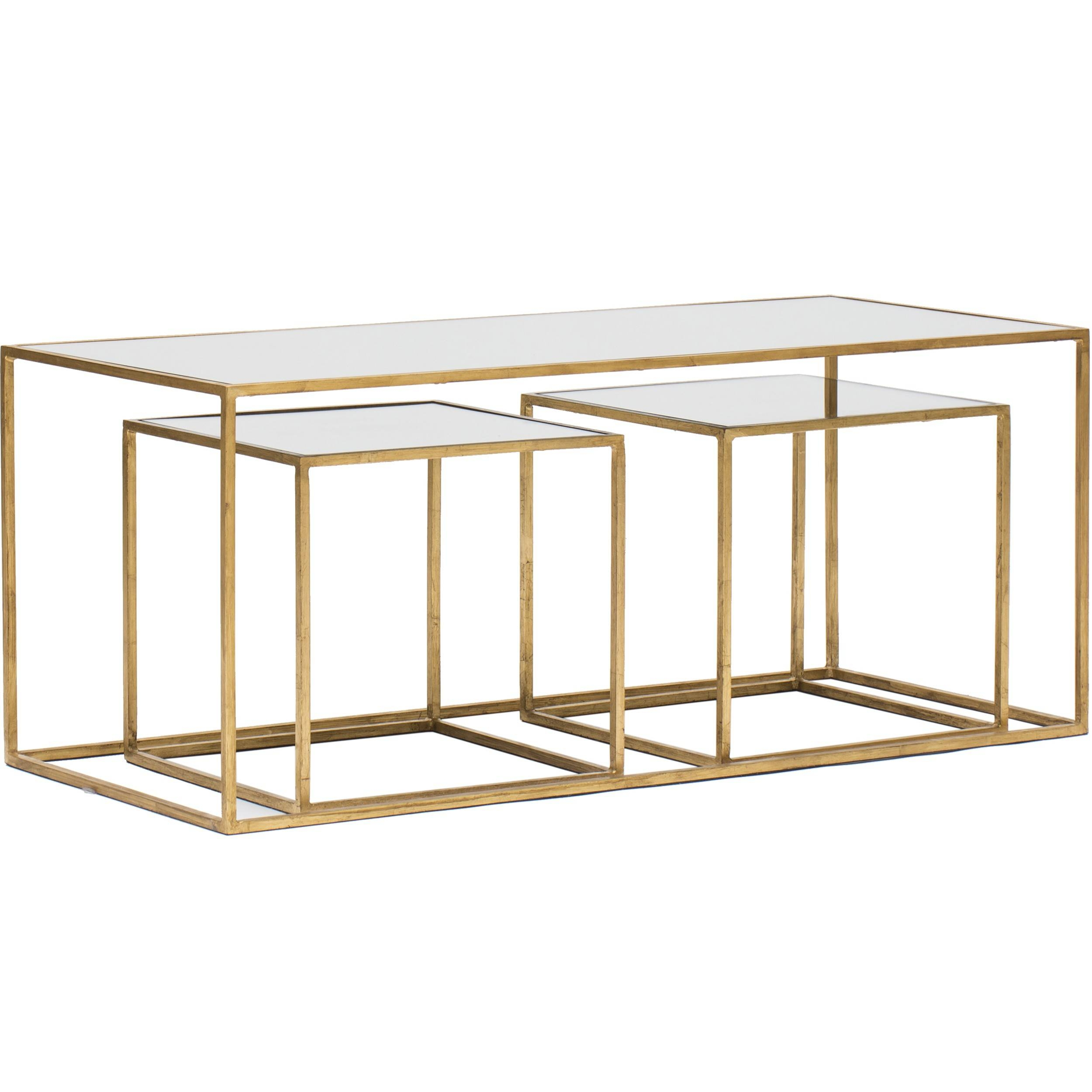 Gold Glass Coffee Table. Hollywood Glamour Gold Glass Coffee regarding Small Mirrored Coffee Tables (Image 16 of 30)