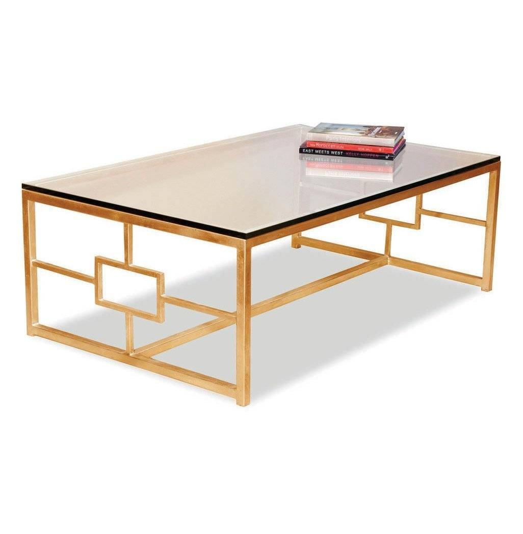 Gold Glass Coffee Table Modern Coffee Tables Modern Glass Coffee in Retro Glass Coffee Tables (Image 21 of 30)