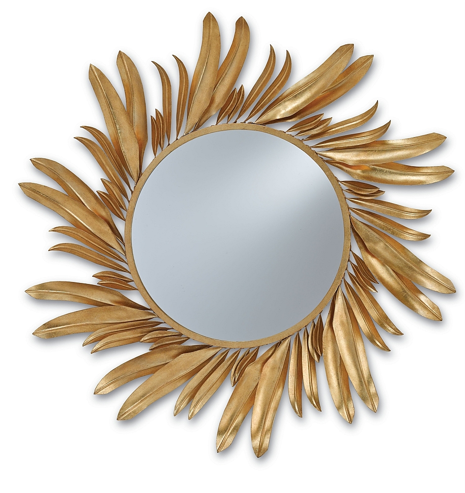 Gold Iron Petals Round Mirror - The Designer Insider with Gold Round Mirrors (Image 9 of 25)