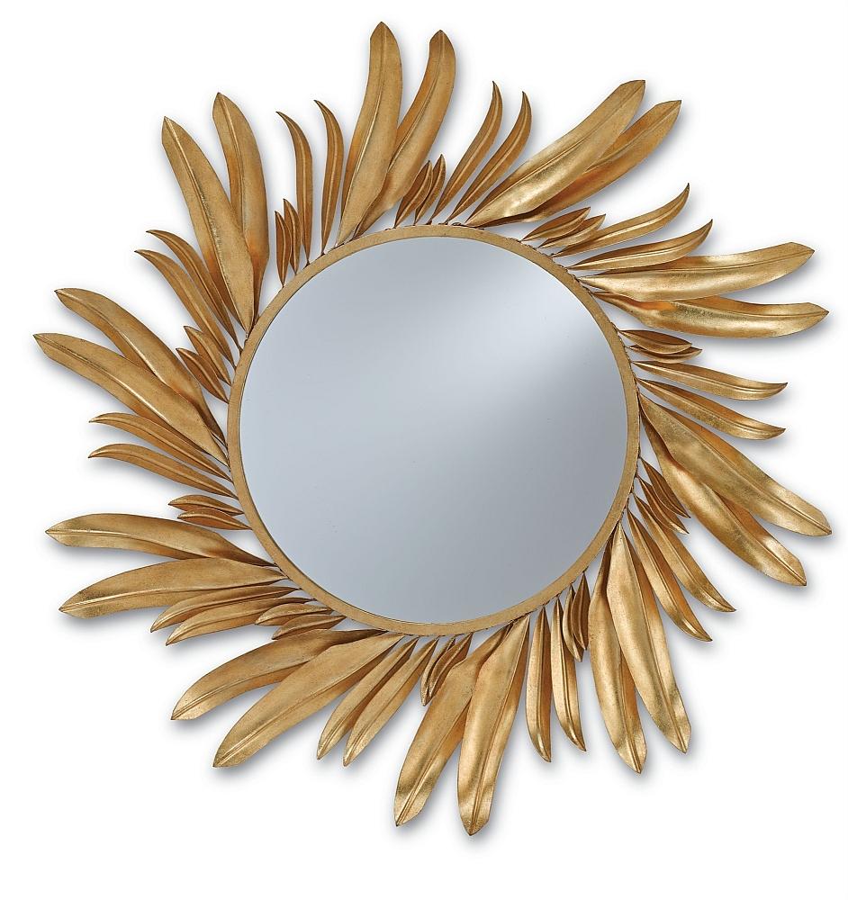 Gold Iron Petals Round Mirror - The Designer Insider within Designer Round Mirrors (Image 15 of 25)
