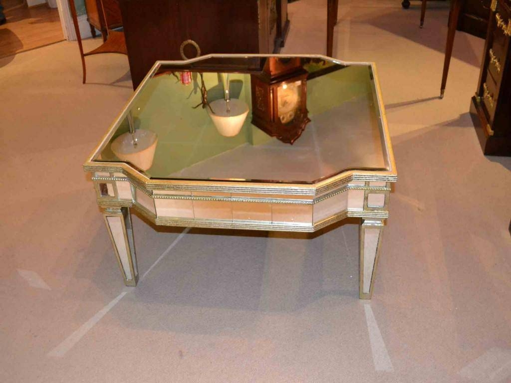 Gold Mirrored Coffee Table – Harpsounds.co with Vintage Mirror Coffee Tables (Image 11 of 30)