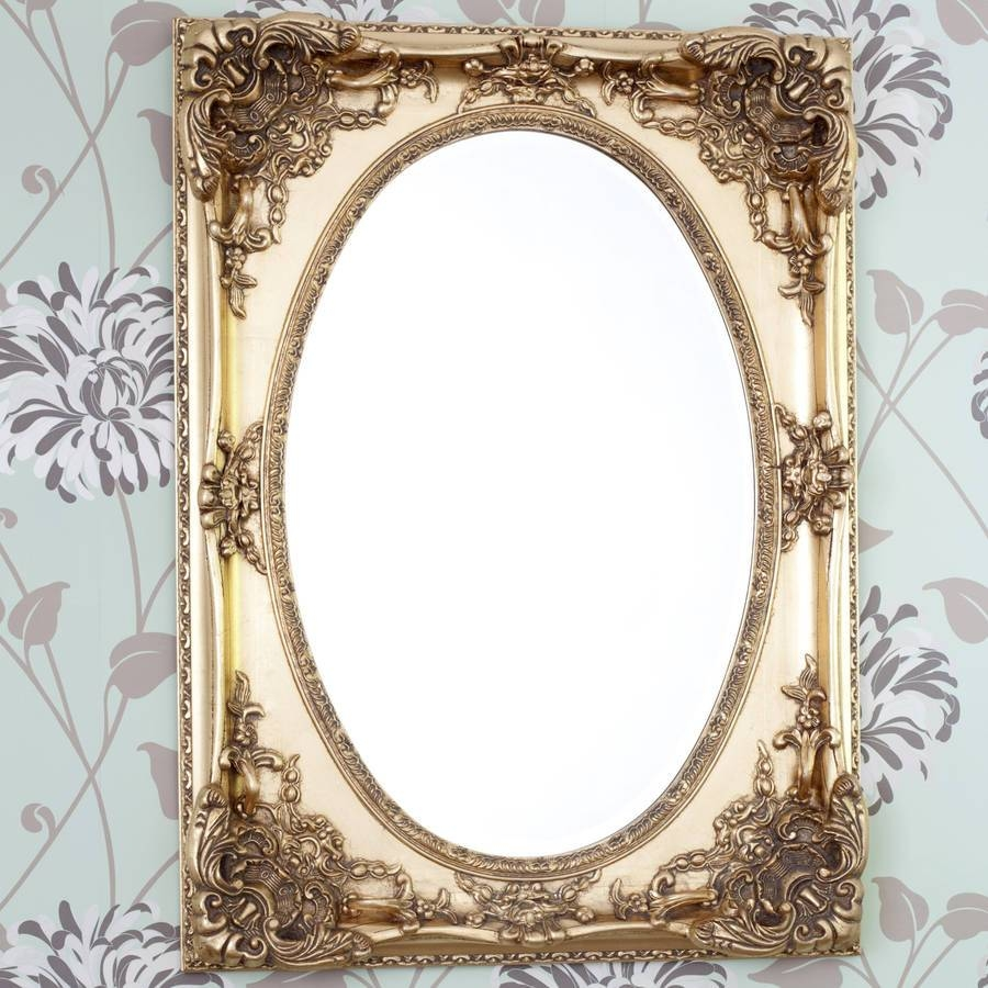 Gold Ornate Oval Mirrordecorative Mirrors Online with regard to Ornate Oval Mirrors (Image 7 of 25)