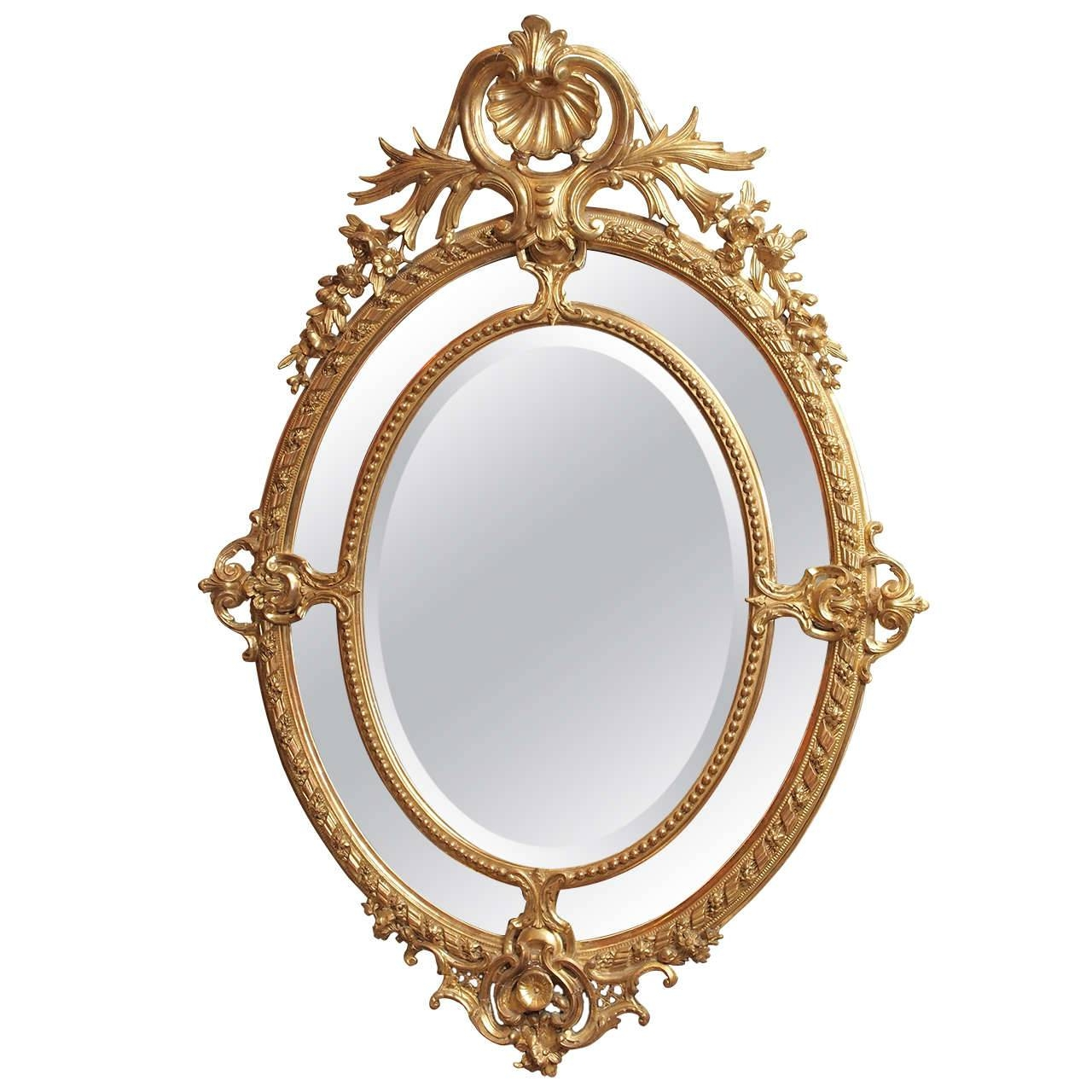 Gold Oval Mirror Vintage 148 Nice Decorating With Ornate Antique intended for Small Gold Mirrors (Image 13 of 25)
