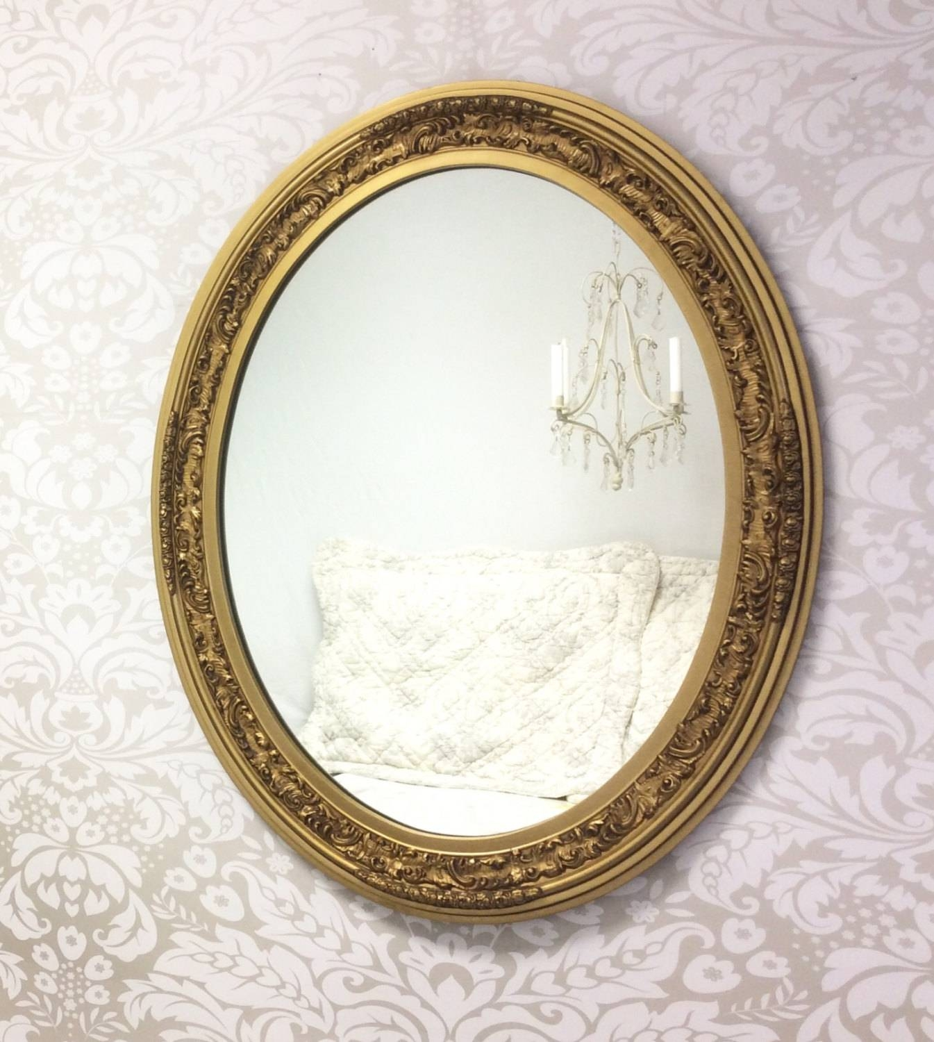 Gold Oval Mirror Vintage 148 Nice Decorating With Ornate Antique with Small Ornate Mirrors (Image 13 of 25)