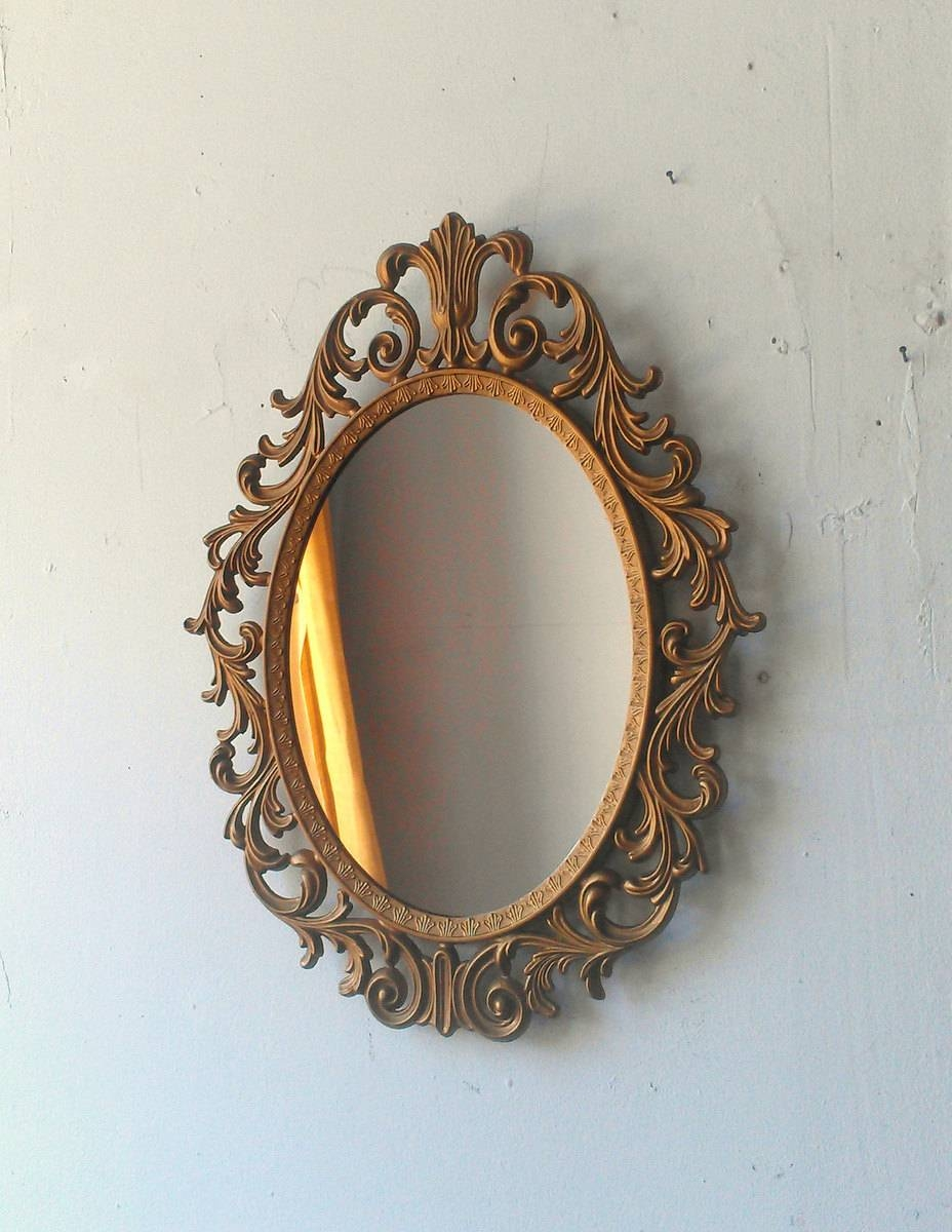 Gold Oval Mirror Vintage 83 Nice Decorating With Baroque Mirror In with regard to Baroque Mirrors (Image 16 of 25)