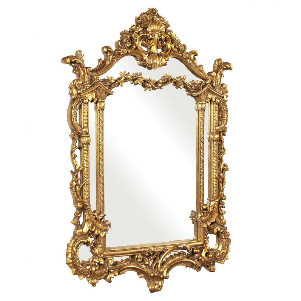 Gold Rectangle Mirror – Amlvideo pertaining to Small Baroque Mirrors (Image 11 of 25)