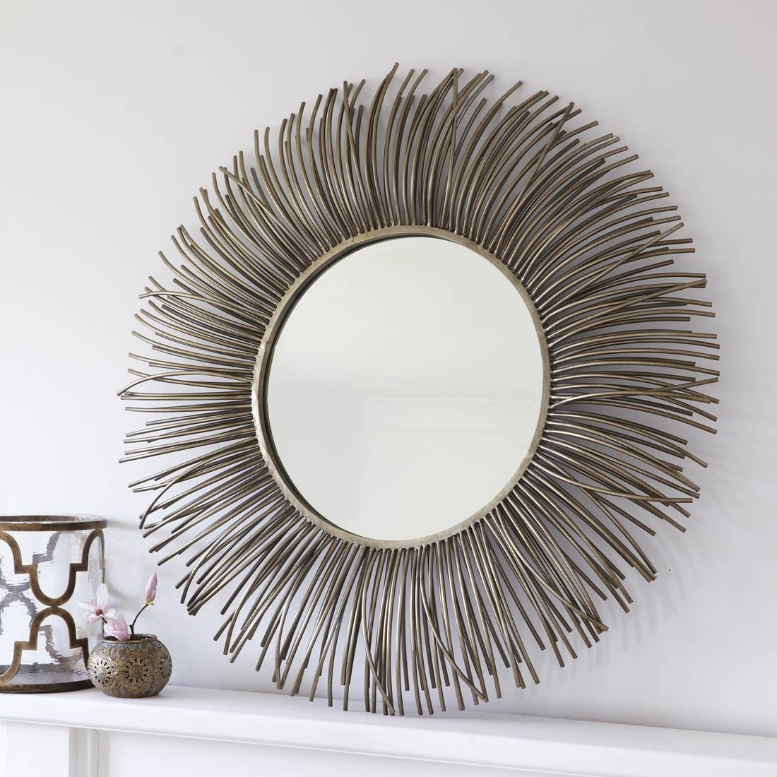 Gold Spiky Sunburst Wall Mirror – Primrose & Plum intended for Champagne Wall Mirrors (Image 6 of 25)