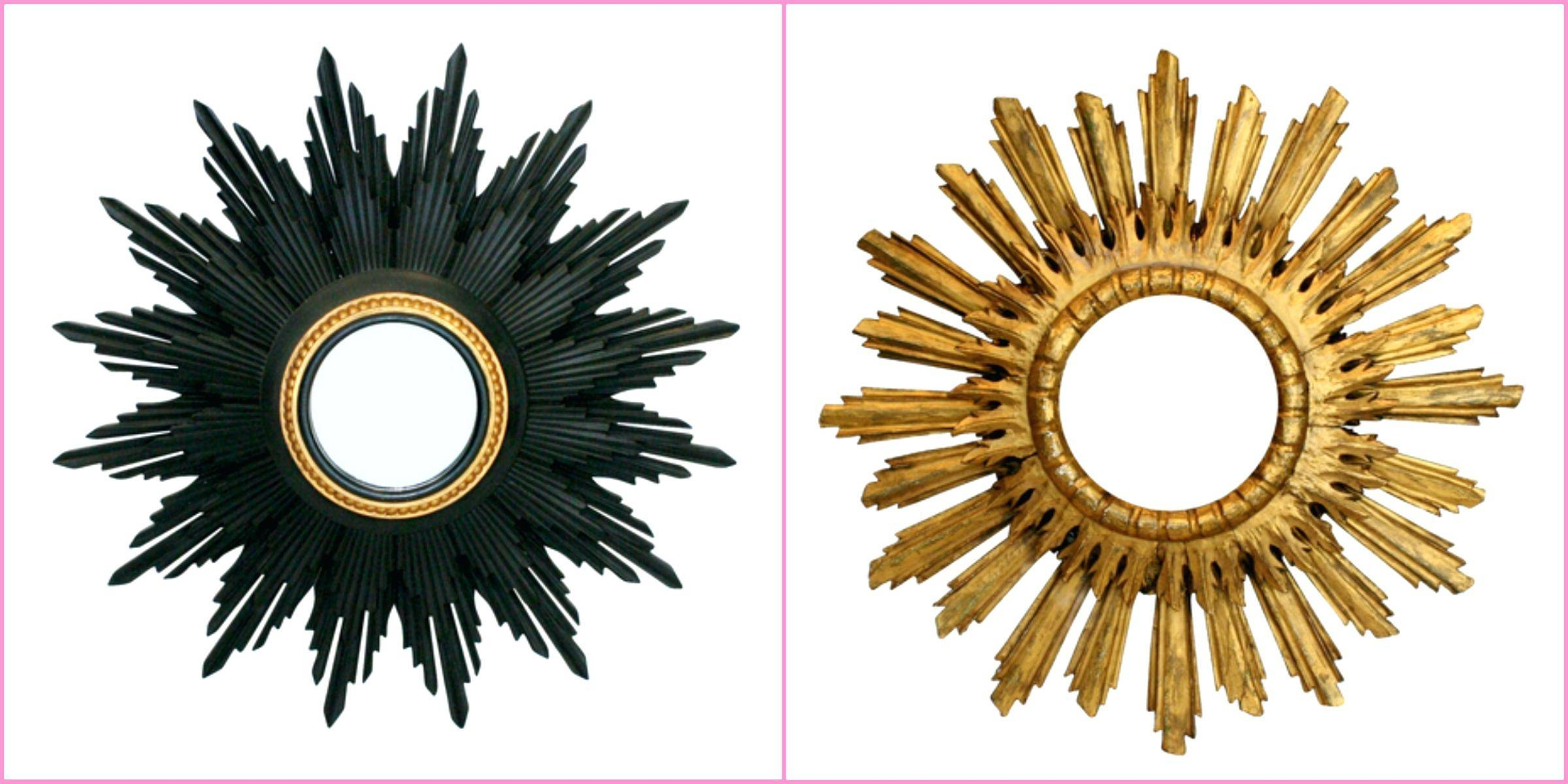Gold Sunburst Mirror Wall Decor – Amlvideo throughout French Gold Mirrors (Image 23 of 25)