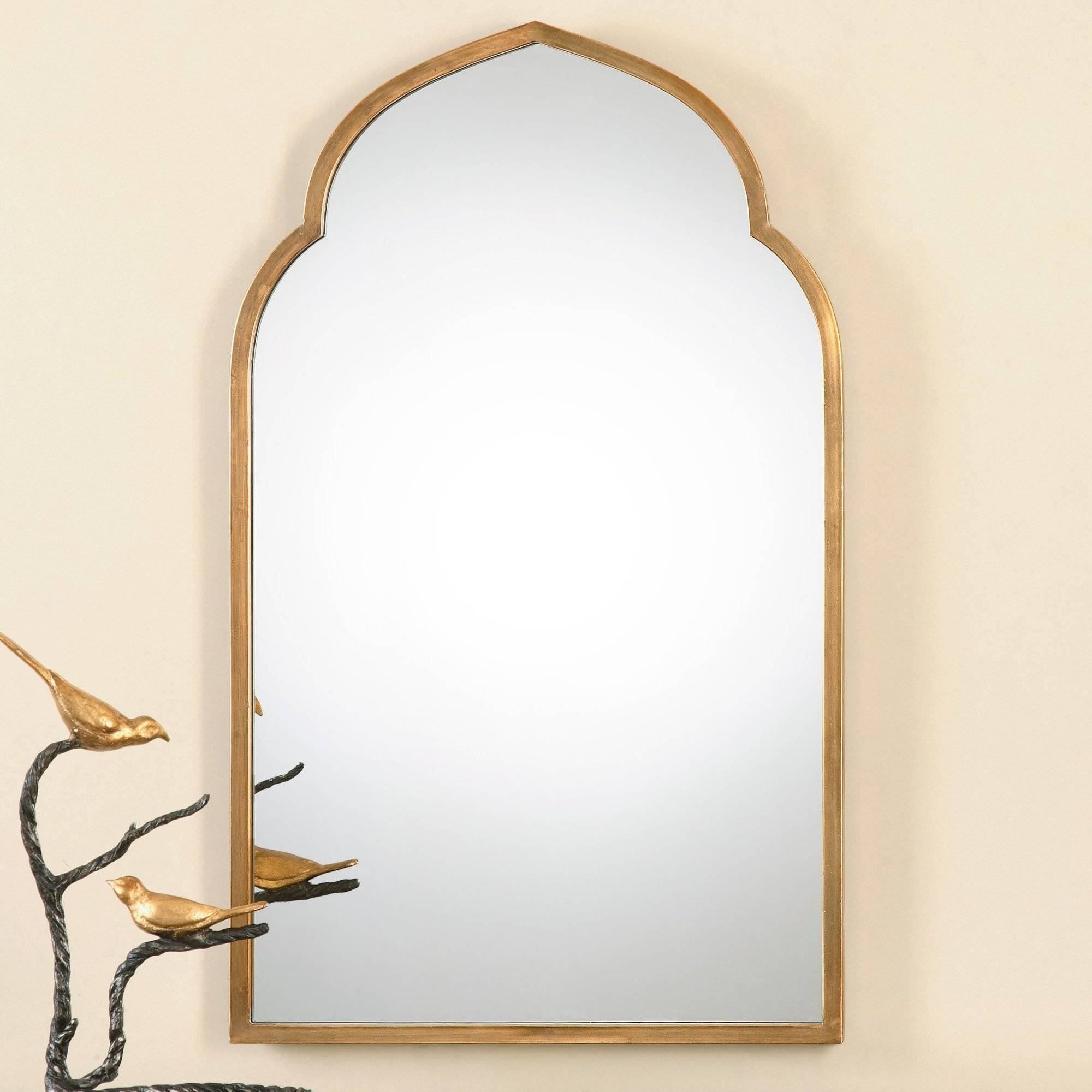 Gold Wall Mirrors You'll Love Wayfair, Lovable Long Gold Arched for Long Gold Mirrors (Image 17 of 25)
