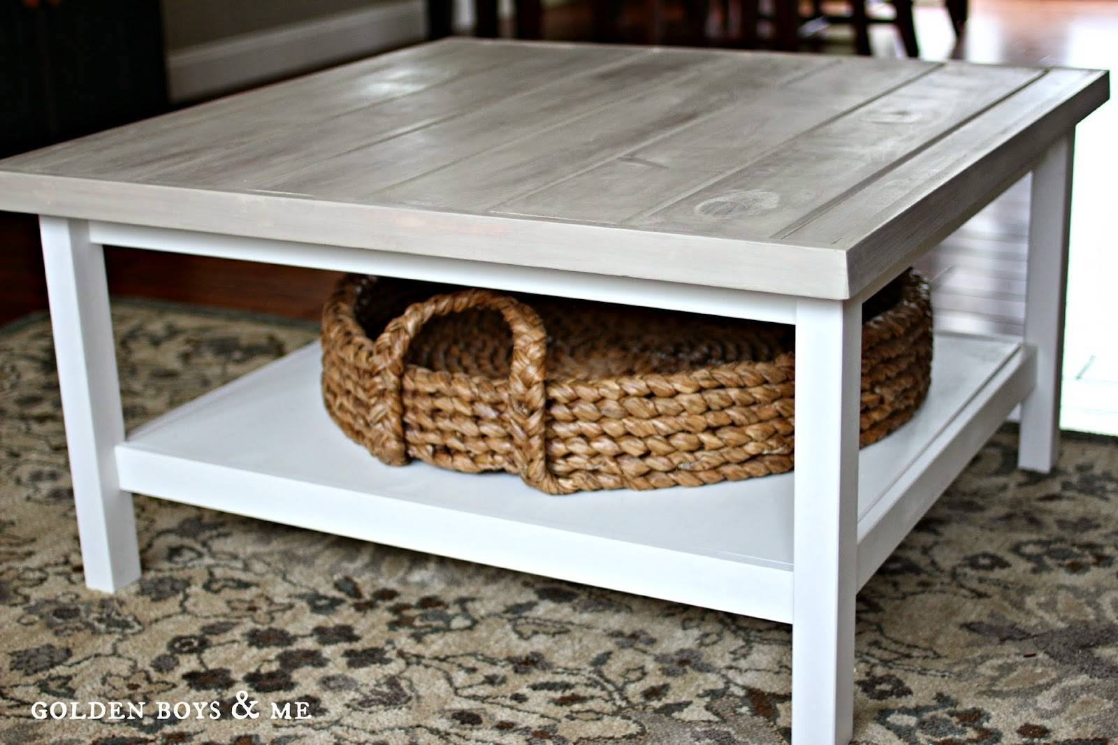 Golden Boys And Me: Coffee Table (Ikea Hack) with regard to White Coffee Tables With Baskets (Image 23 of 30)
