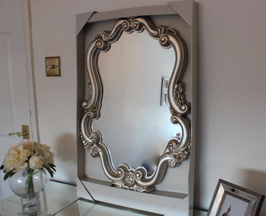Gorgeous Champagne Baroque Living Room Wall Mirror Brand New Boxed regarding Champagne Wall Mirrors (Image 7 of 25)
