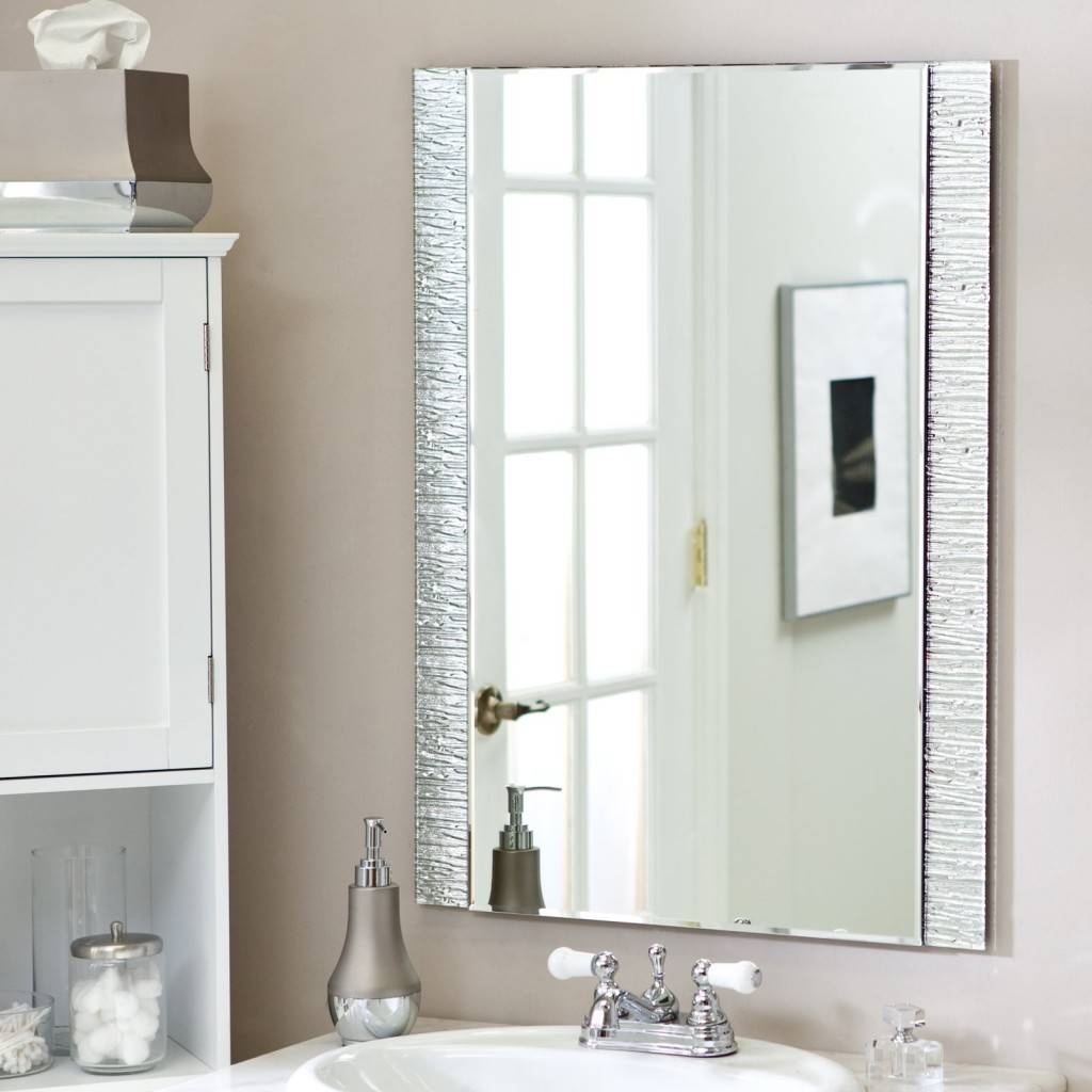 Gorgeous Designs With Bathroom Frameless Mirrors – Frameless Pertaining To Silver Rectangular Mirrors (View 9 of 25)