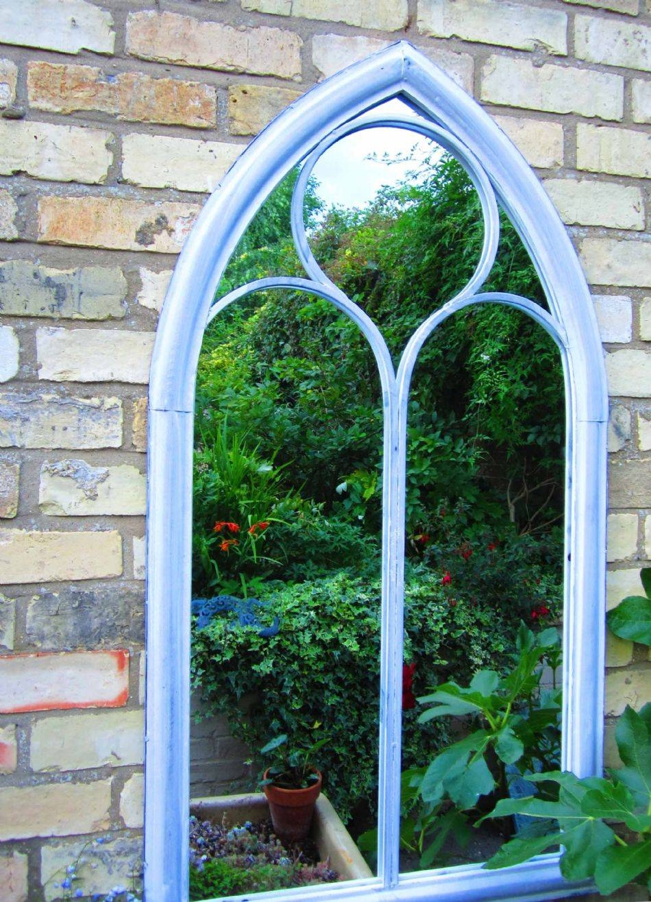 Gothic Arch Window Mirror 112Cm Tall pertaining to Garden Window Mirrors (Image 16 of 25)