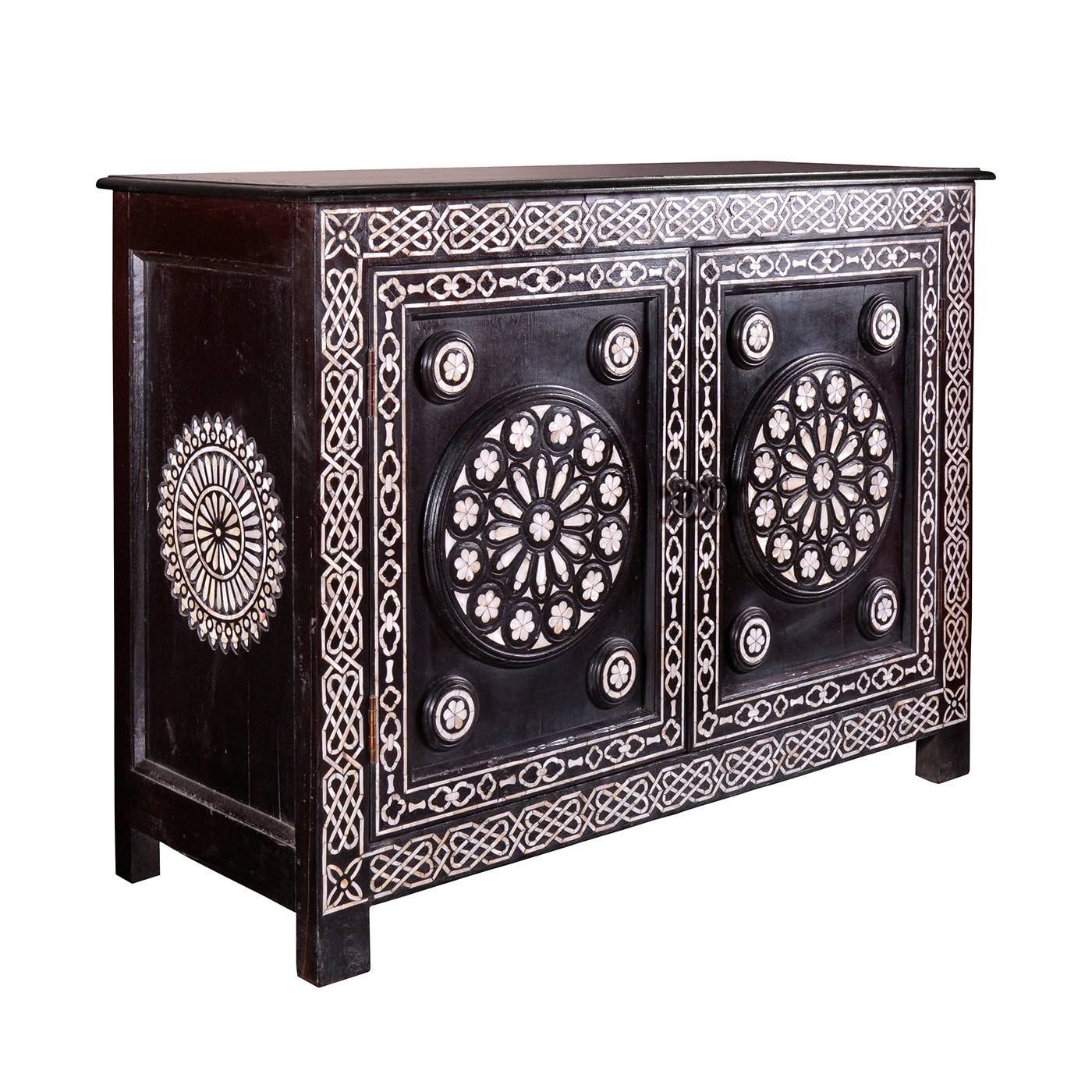 Gothic Pearl Inlay Sideboard: Mother Of Pearl Inlay Sideboard Buffett intended for Metal Sideboards (Image 13 of 30)