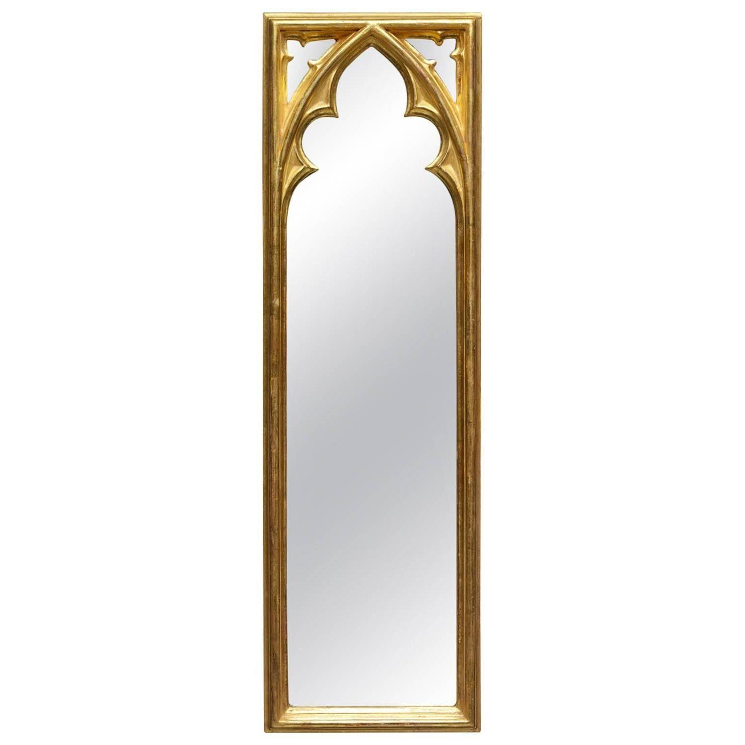 Gothic Revival Burl Wood Arched Wall Mirror At 1Stdibs intended for Gothic Wall Mirrors (Image 16 of 25)