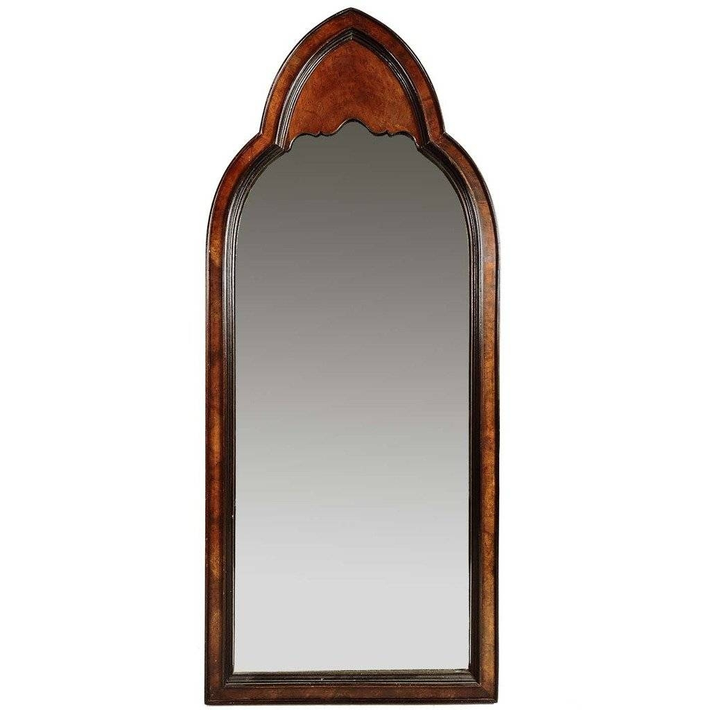 Gothic Revival Burl Wood Arched Wall Mirror At 1Stdibs with Gothic Wall Mirrors (Image 17 of 25)