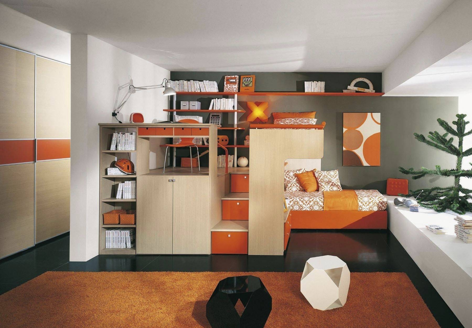 Graceful Modern Bedroom Furniture For Kids With Wooden Wardrobe in Childrens Wardrobes With Drawers and Shelves (Image 13 of 30)