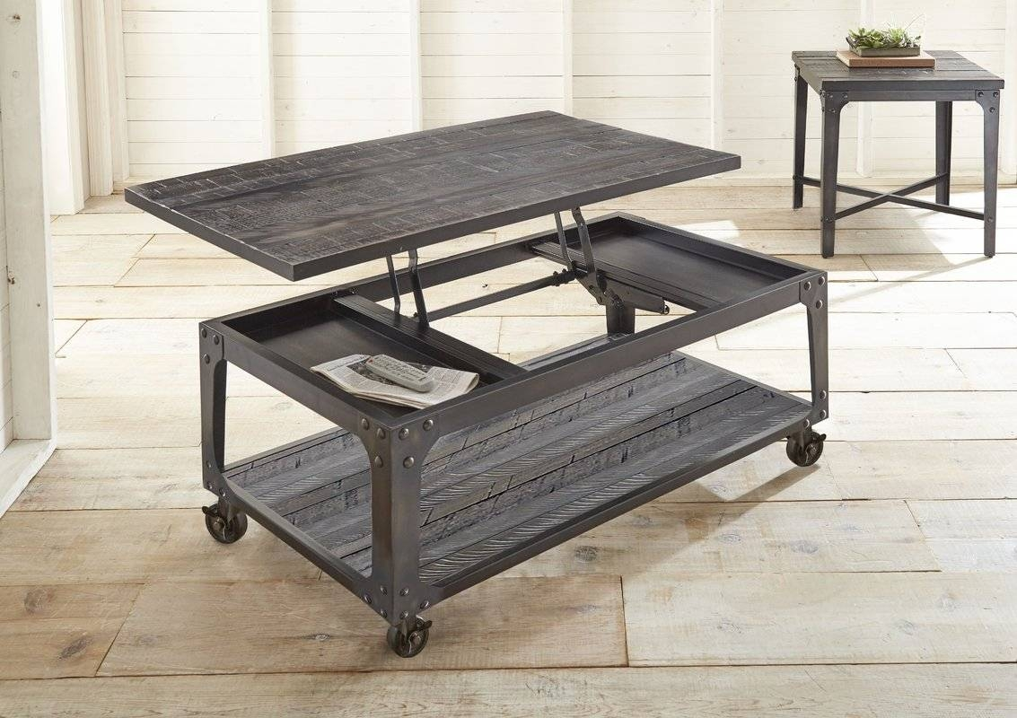 Gracie Oaks Lindley 2 Piece Coffee Table Set & Reviews | Wayfair for 2 Piece Coffee Table Sets (Image 20 of 30)
