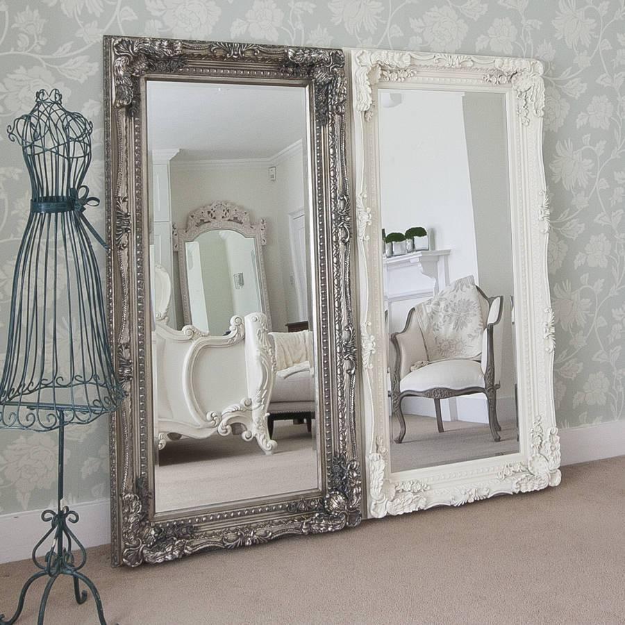 Grand Cream Full Length Dressing Mirrordecorative Mirrors intended for Full Length Decorative Mirrors (Image 19 of 25)
