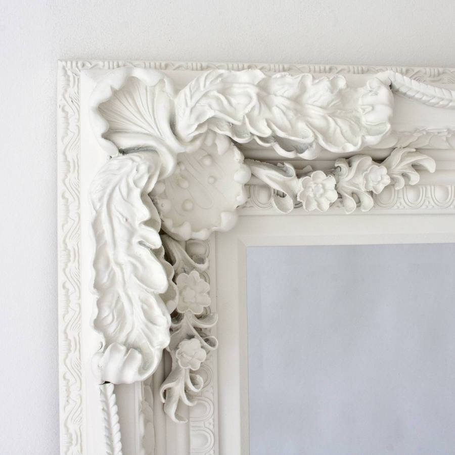 Grand Cream Full Length Dressing Mirrordecorative Mirrors throughout Decorative Full Length Mirrors (Image 18 of 25)