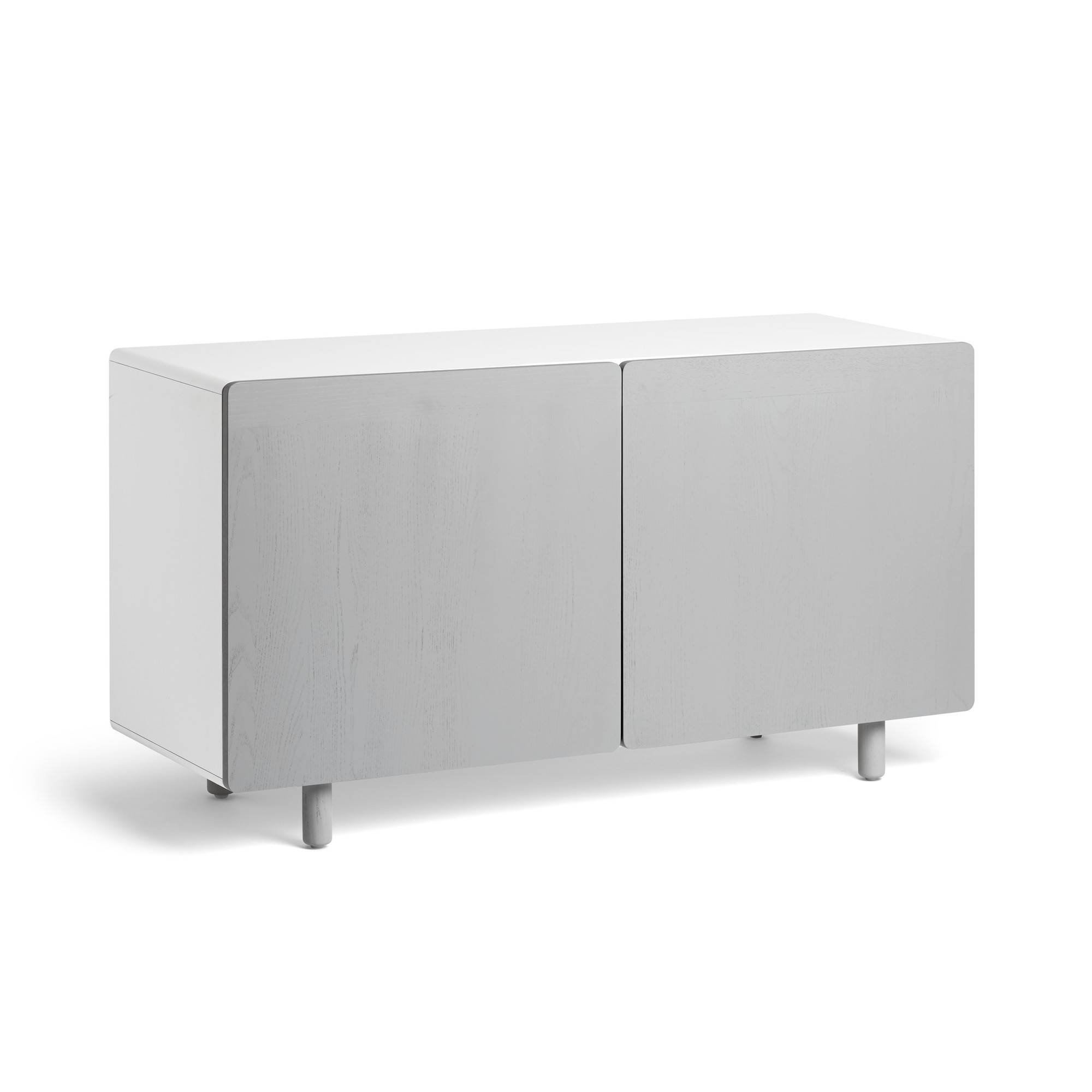 Gray Ash Cleo Credenza | Credenza + Sideboards | Poppin regarding Grey Sideboards (Image 8 of 30)