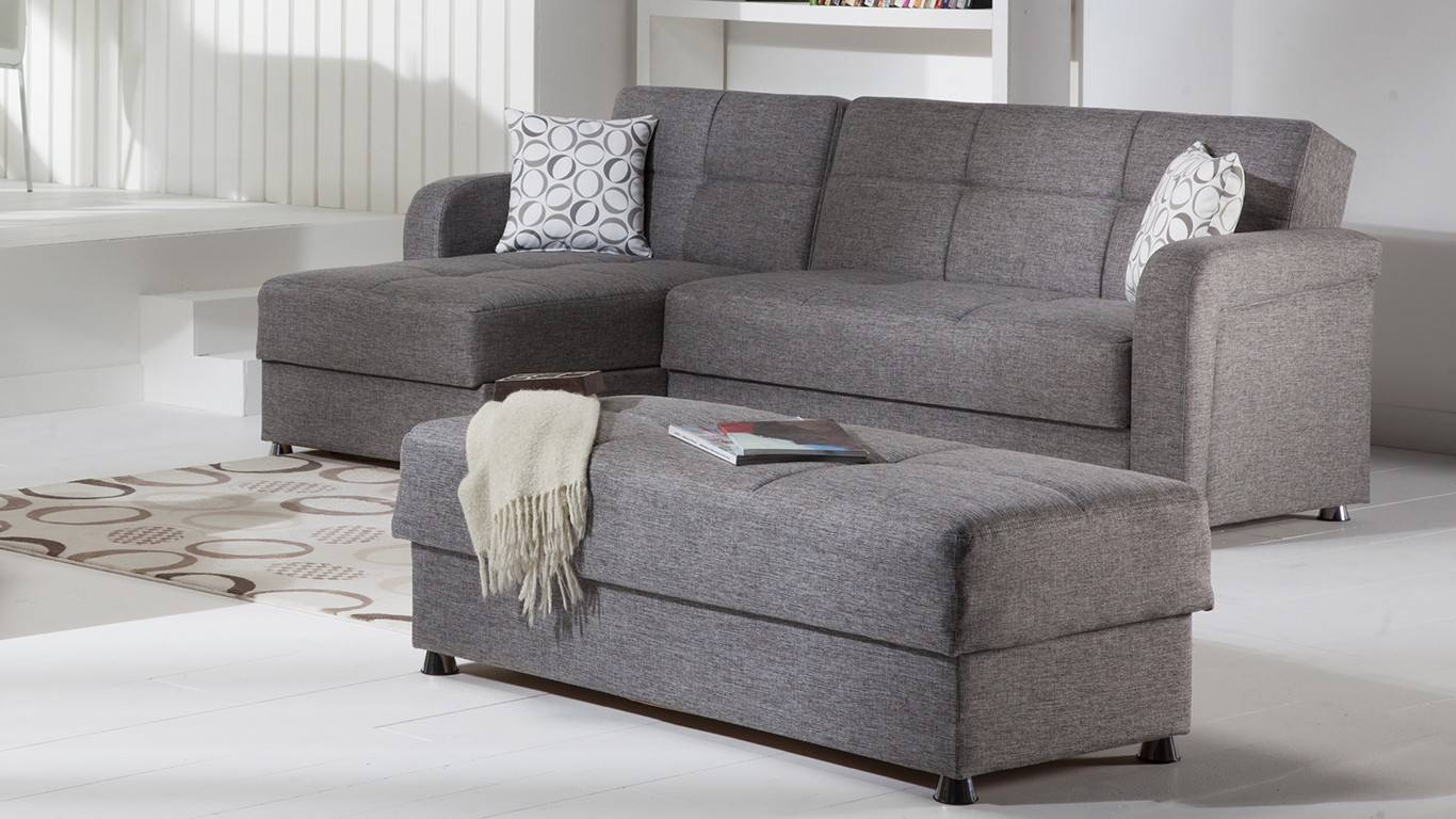 Gray Sectional Sofa Bed | Tehranmix Decoration throughout Mini Sofa Sleepers (Image 10 of 30)