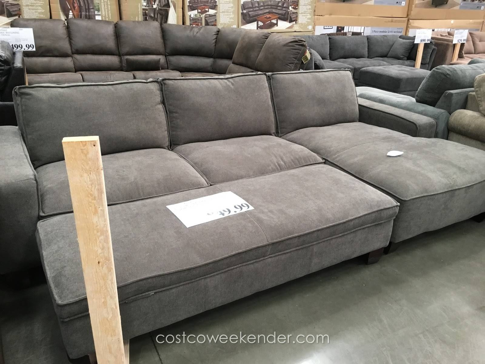 Gray Sectional Sofa Costco regarding Wide Sectional Sofa (Image 16 of 25)