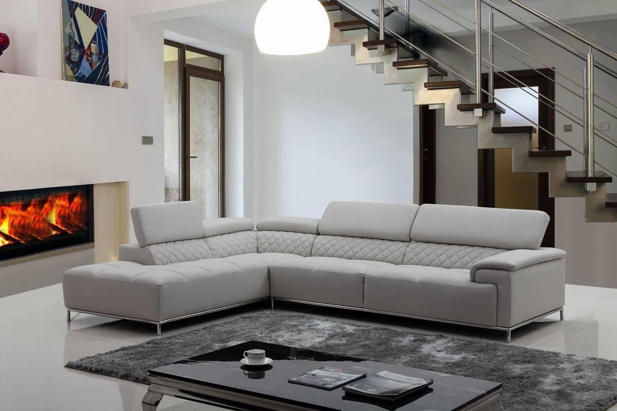 Gray Sectional Sofa   Home Designjohn regarding Gray Leather Sectional Sofas (Image 16 of 30)
