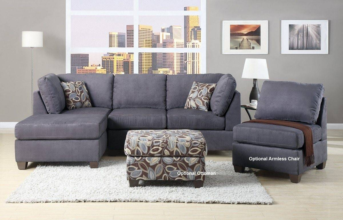 Gray Sectional Sofa With Chaise Lounge - Cleanupflorida with Backless Chaise Sofa (Image 15 of 30)