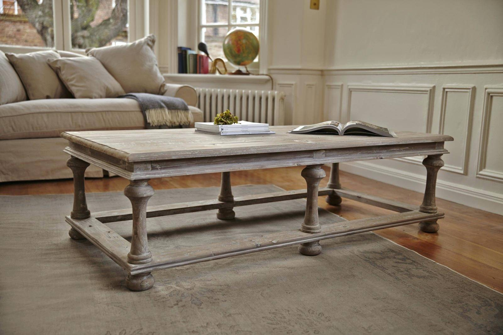 Gray Wash Coffee Table | Coffee Table Decoration in Grey Wash Wood Coffee Tables (Image 18 of 30)