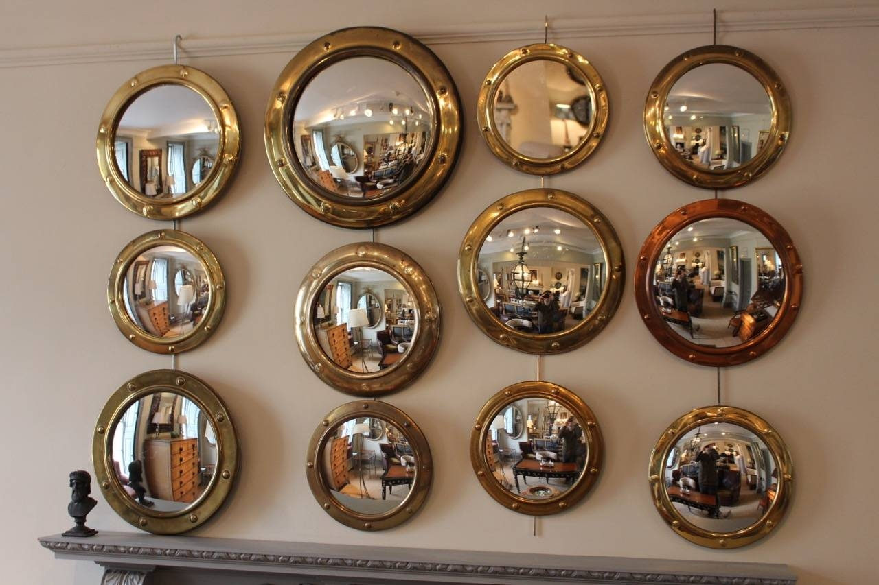 Great Set Of 12 Porthole Convex Mirrors - Round / Oval Mirrors within Decorative Convex Mirrors (Image 12 of 25)