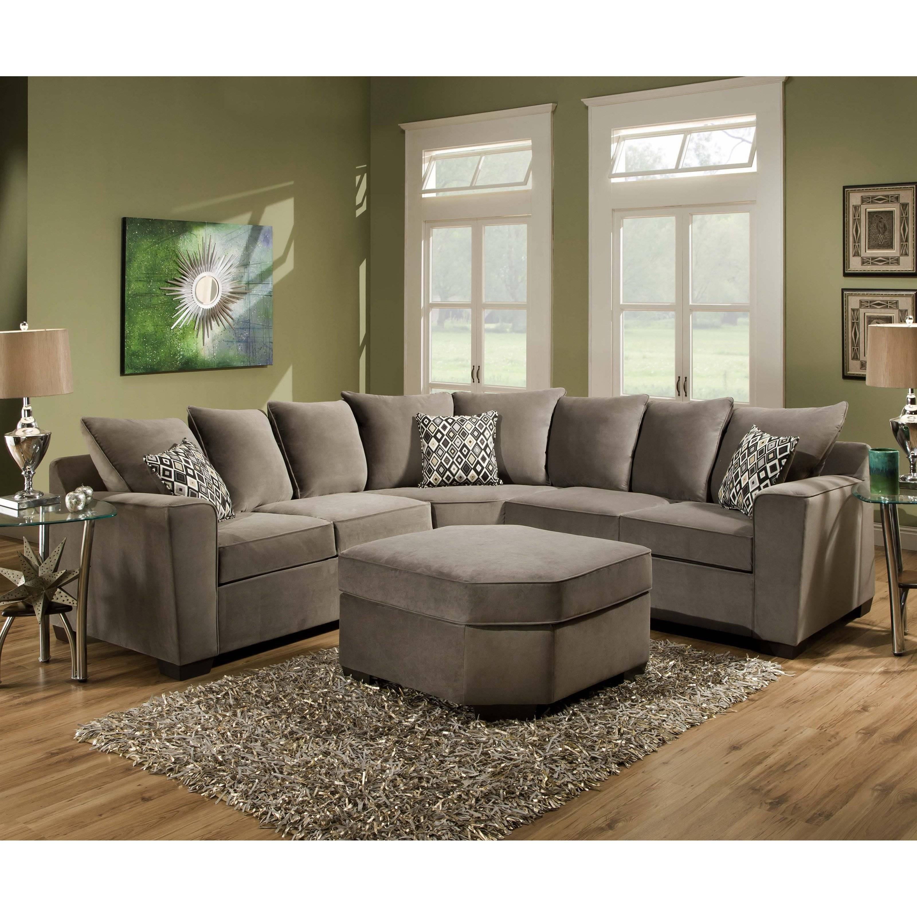 Great Small Scale Sectional Sofa With Chaise 96 On Organic with Craftsman Sectional Sofa (Image 20 of 30)