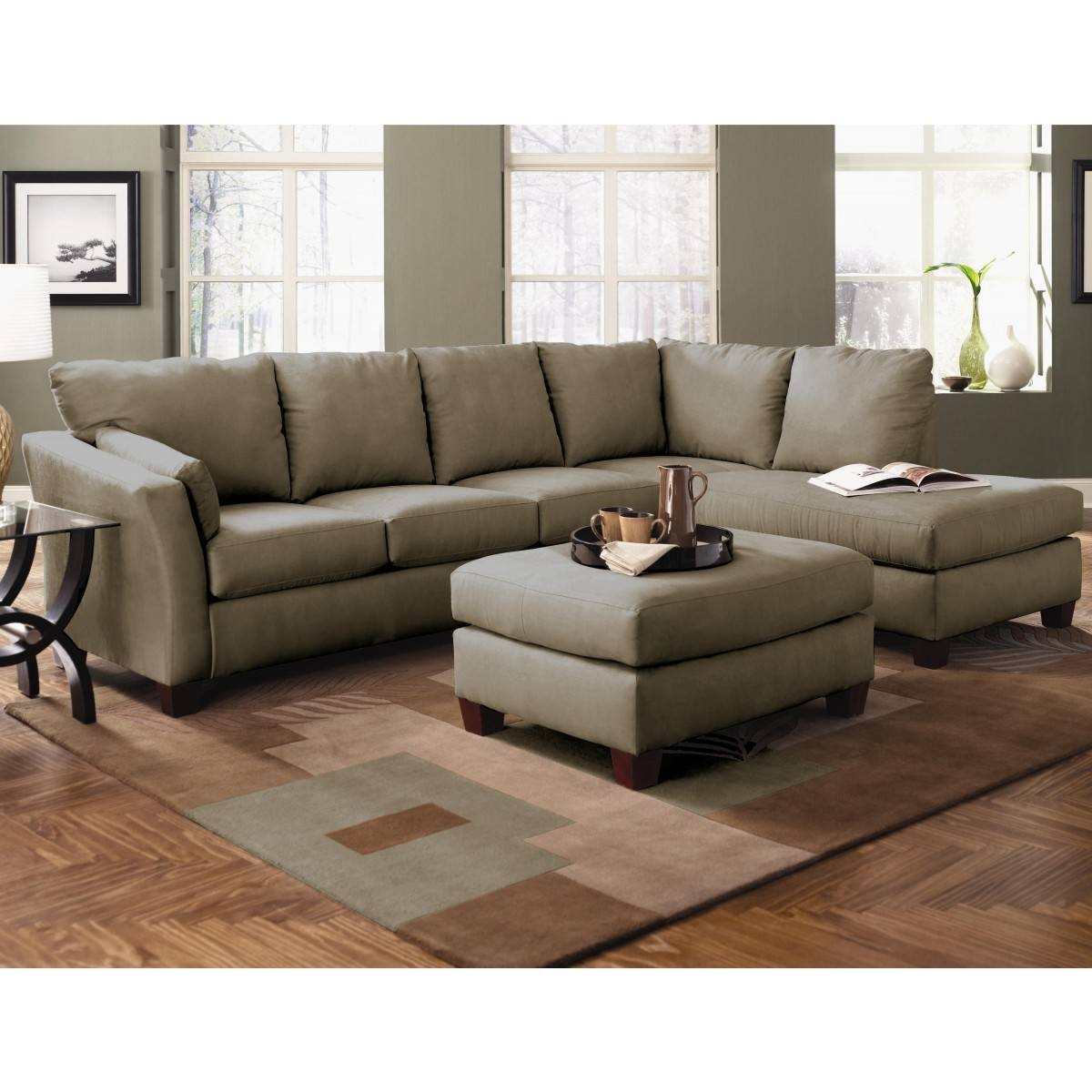 Green Sectional Sofa With Chaise 42 With Green Sectional Sofa With regarding Green Sectional Sofa With Chaise (Image 13 of 30)