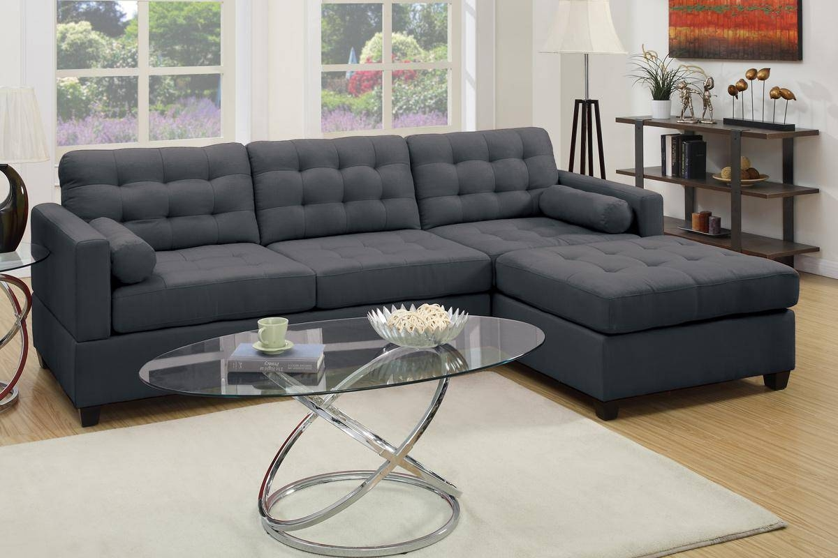 Grey Fabric Sectional Sofa - Steal-A-Sofa Furniture Outlet Los for Cloth Sectional Sofas (Image 16 of 30)
