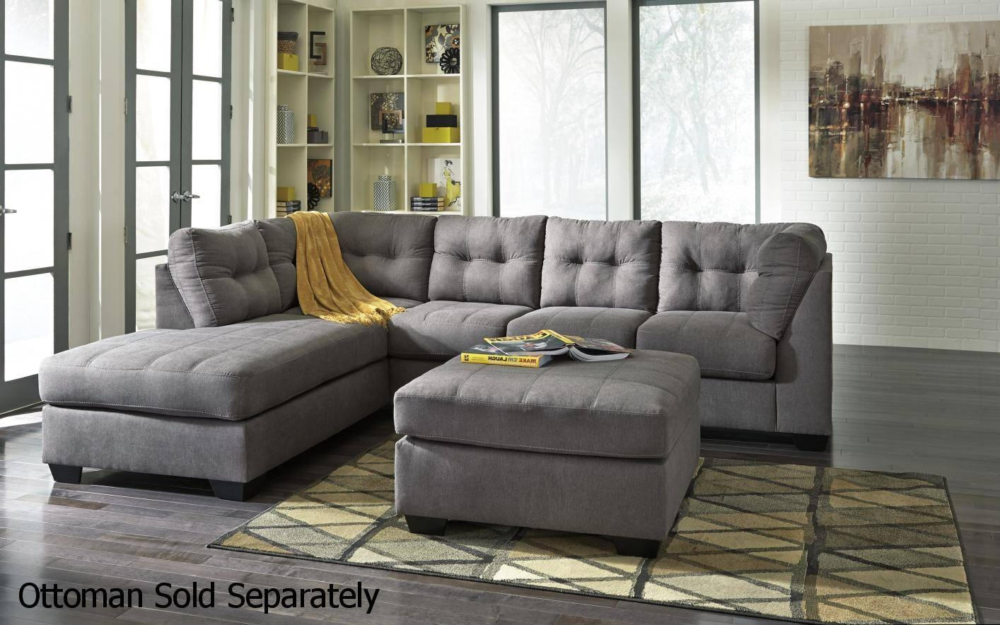 Grey Fabric Sectional Sofa - Steal-A-Sofa Furniture Outlet Los within Sectional Sofas Los Angeles (Image 9 of 25)
