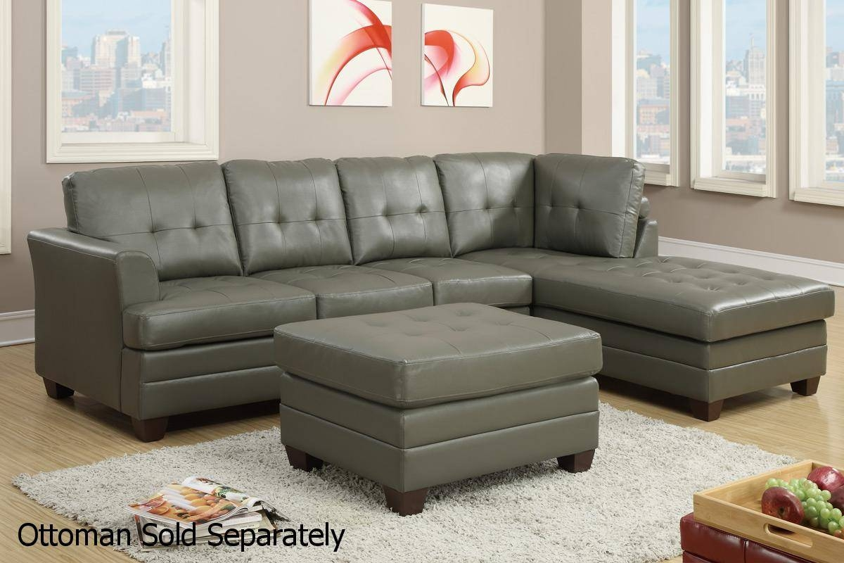 Grey Leather Sectional Sofa - Steal-A-Sofa Furniture Outlet Los within Gray Leather Sectional Sofas (Image 19 of 30)